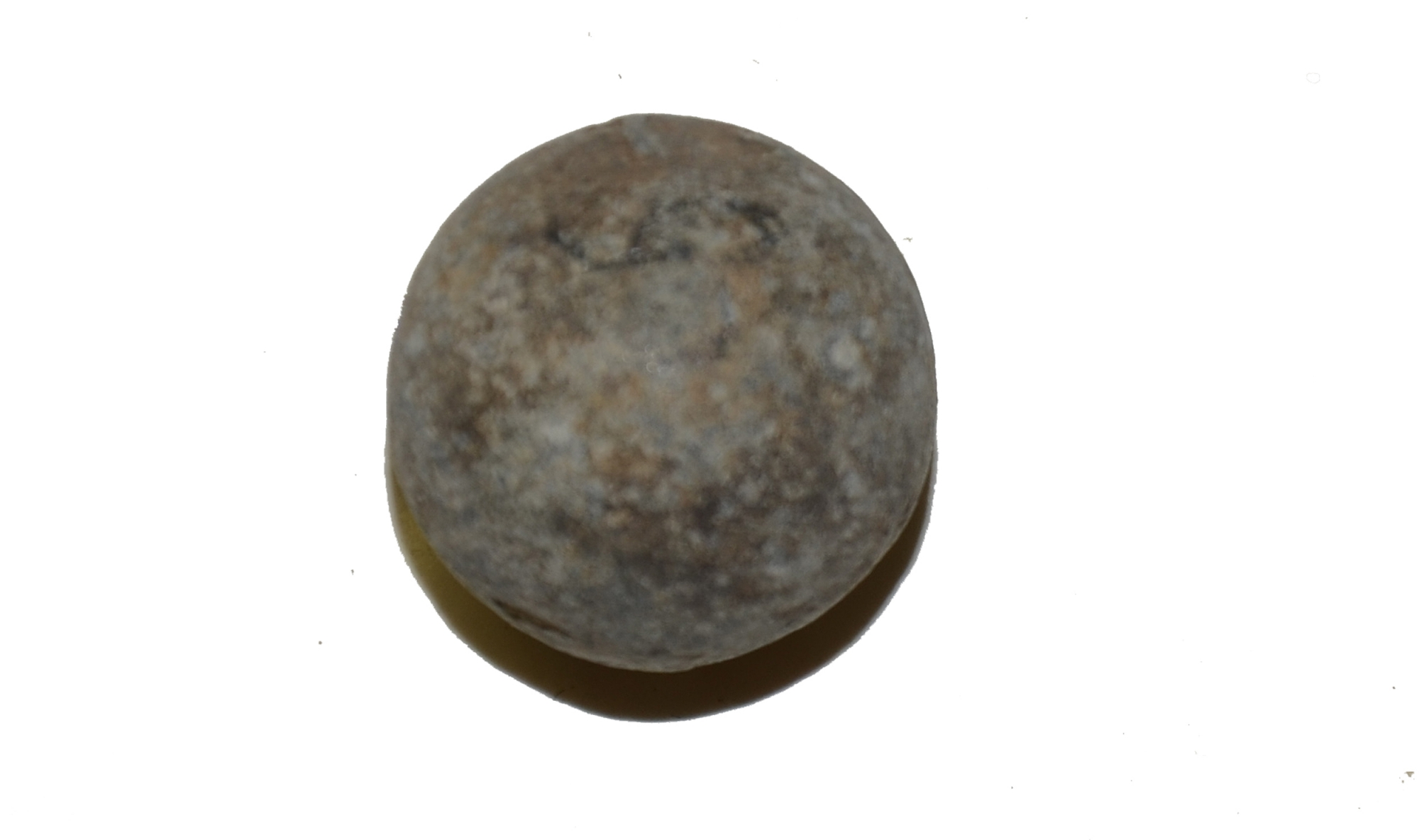 US/CS .69 CAL. ROUND MUSKET BALL RECOVERED ON THE KLINGEL FARM, GETTYSBURG