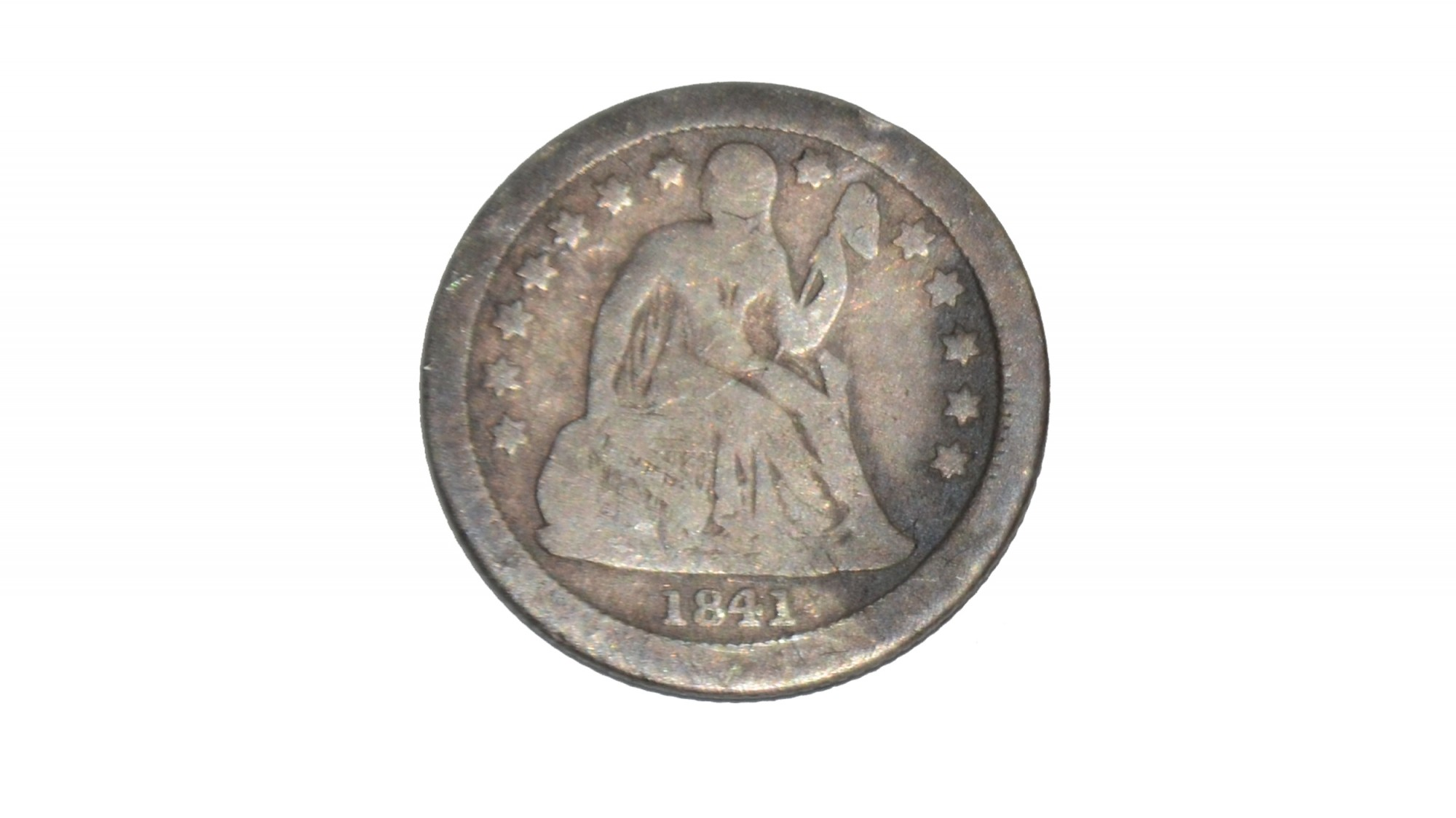 SILVER DIME DATED 1841 – GETTYSBURG