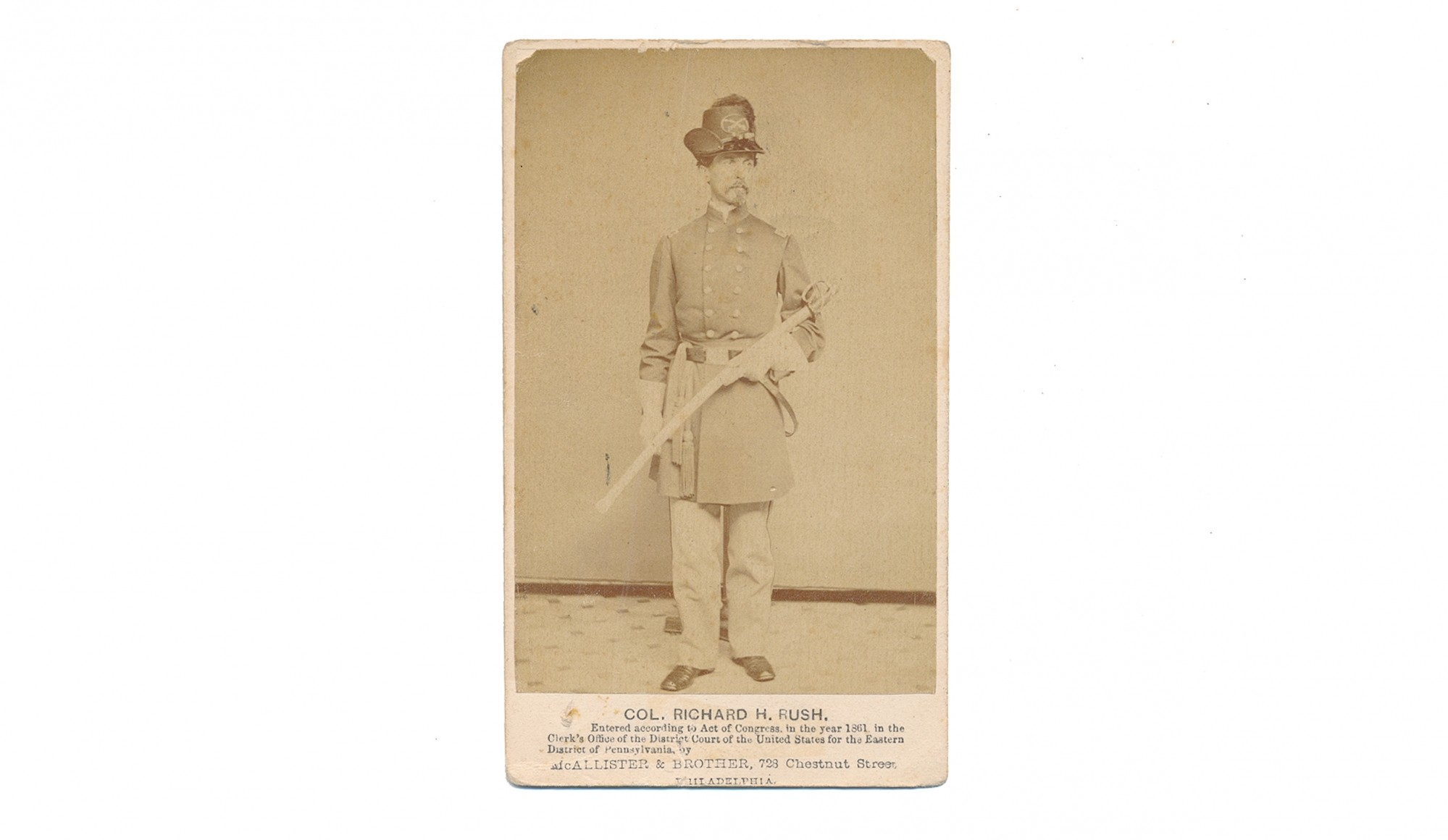 CDV OF US COLONEL RICHARD H. RUSH