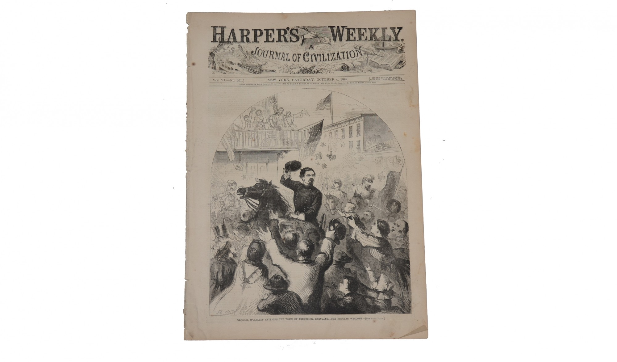 HARPER'S WEEKLY DATED OCTOBER 4, 1862