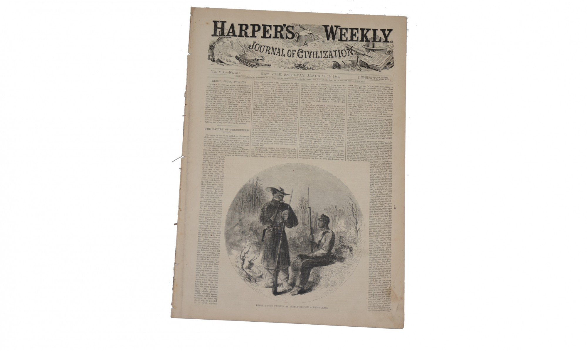 HARPER'S WEEKLY DATED JANUARY 10, 1863