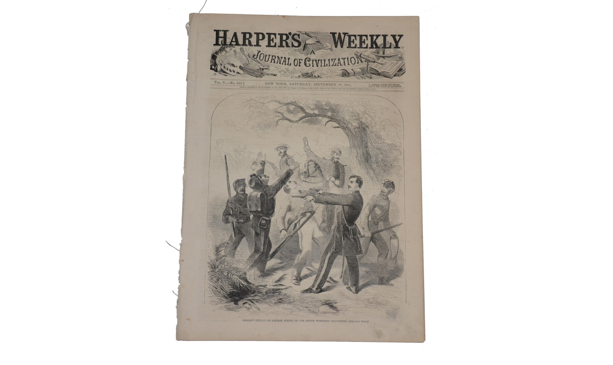 HARPER'S WEEKLY DATED SEPTEMBER 28, 1861