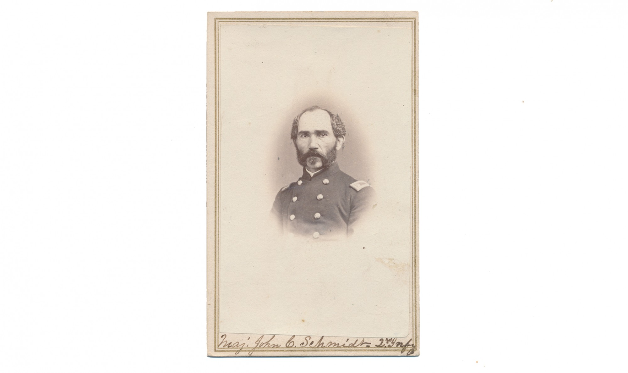CDV OF MAJ. JOHN C. SCHMIDT, 2ND CALIFORNIA INFANTRY