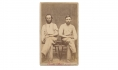 CDV OF TWO WOUNDED CIVIL WAR SOLDIERS
