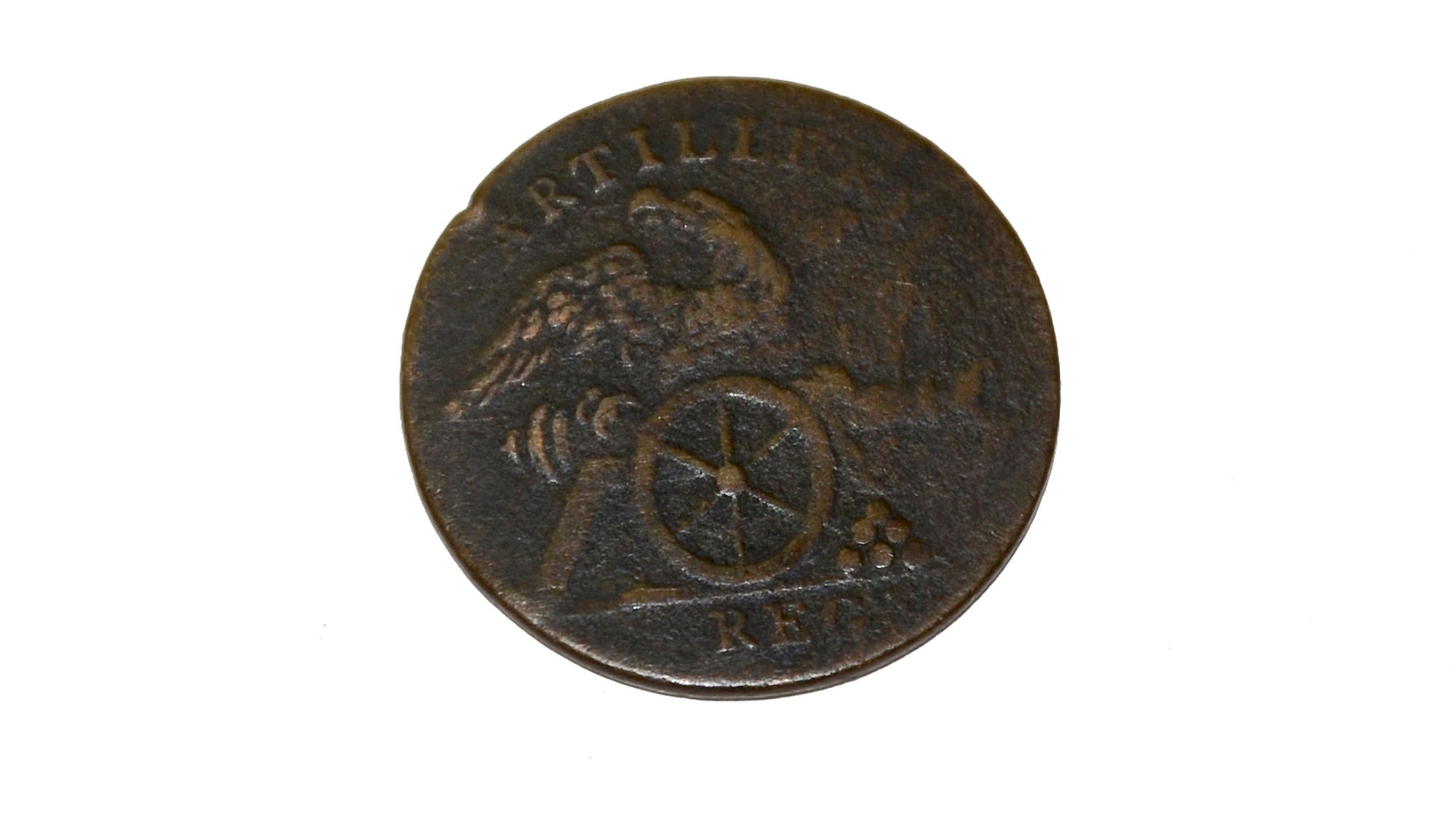 DUG US 1ST REGIMENT ARTILLERY COAT BUTTON