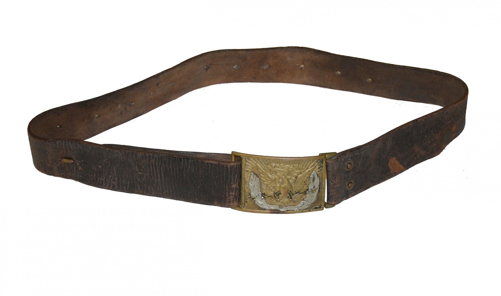 CIVIL WAR NCO BELT WITH BUCKLE AND KEEPER