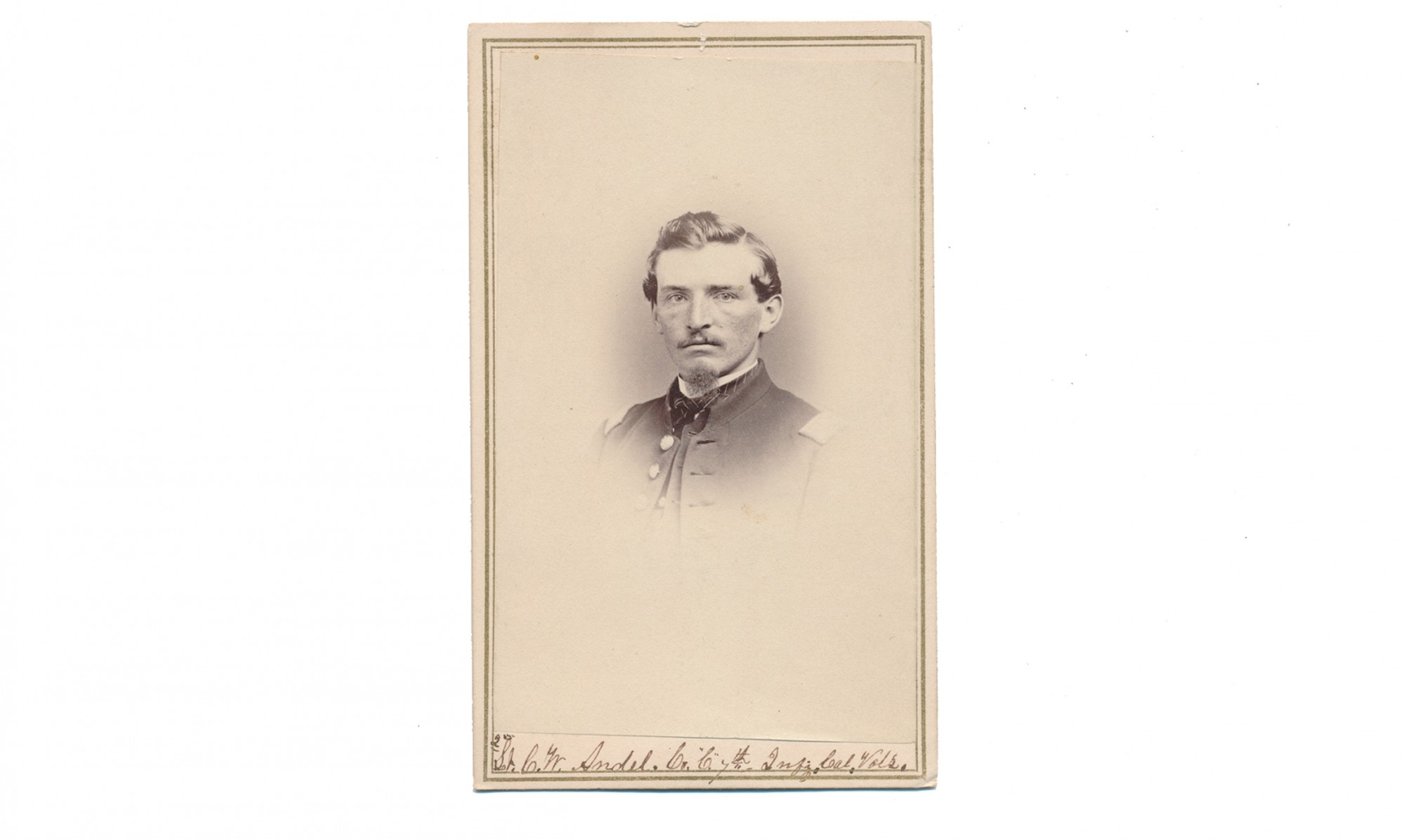 CDV OF CHARLES W. ANDEL, 7th CALIFORNIA INFANTRY