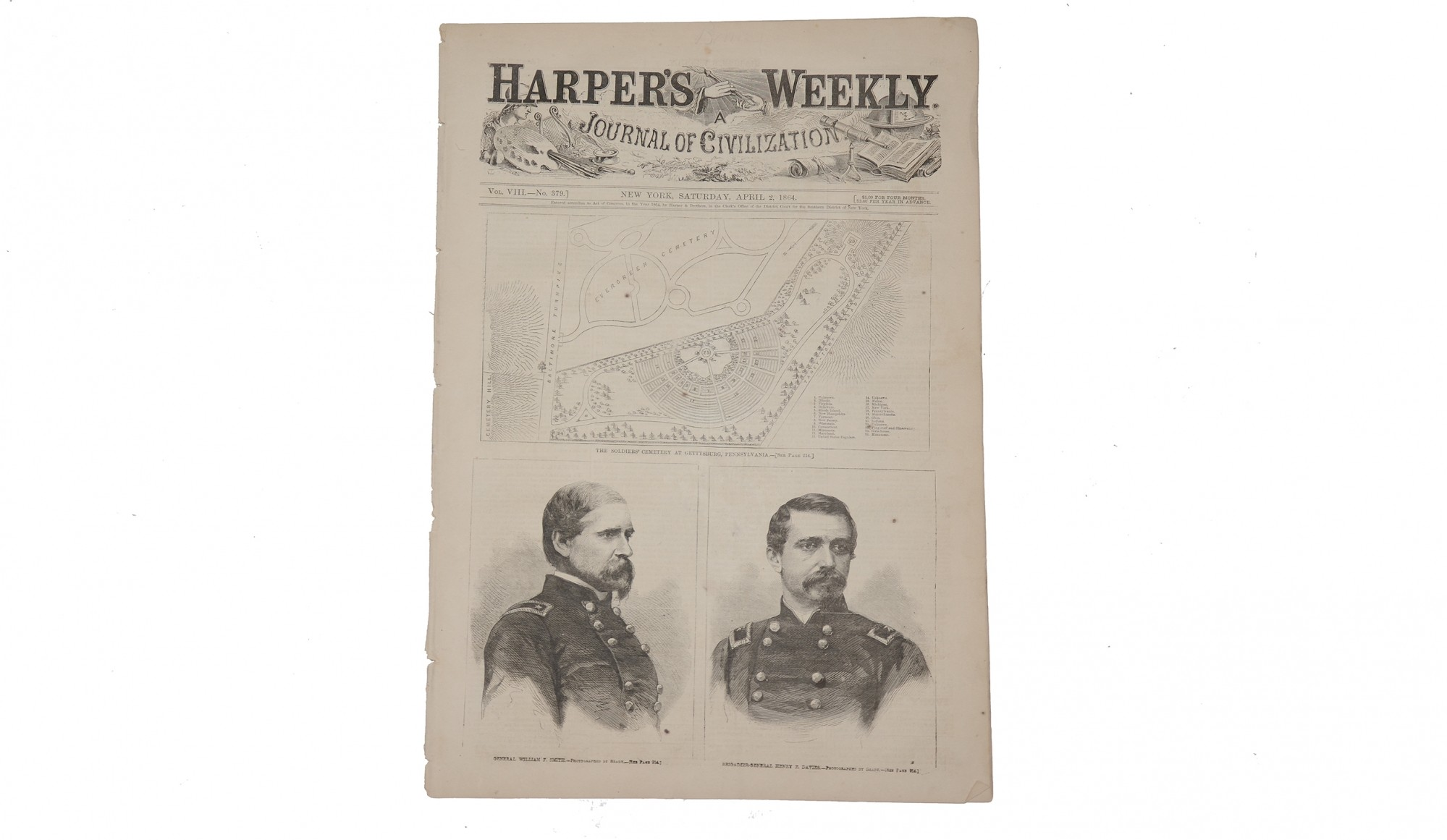 HARPER'S WEEKLY, DATED APRIL 2, 1864 – GETTYSBURG