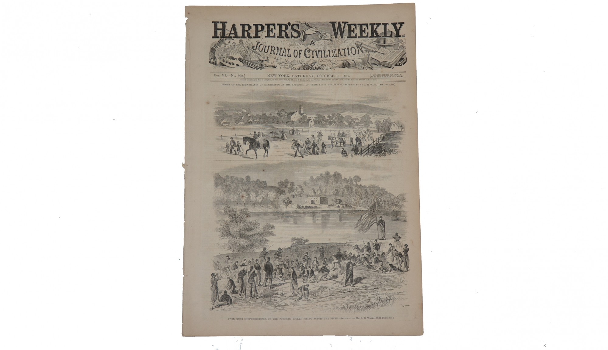 HARPER'S WEEKLY DATED OCTOBER 11, 1862