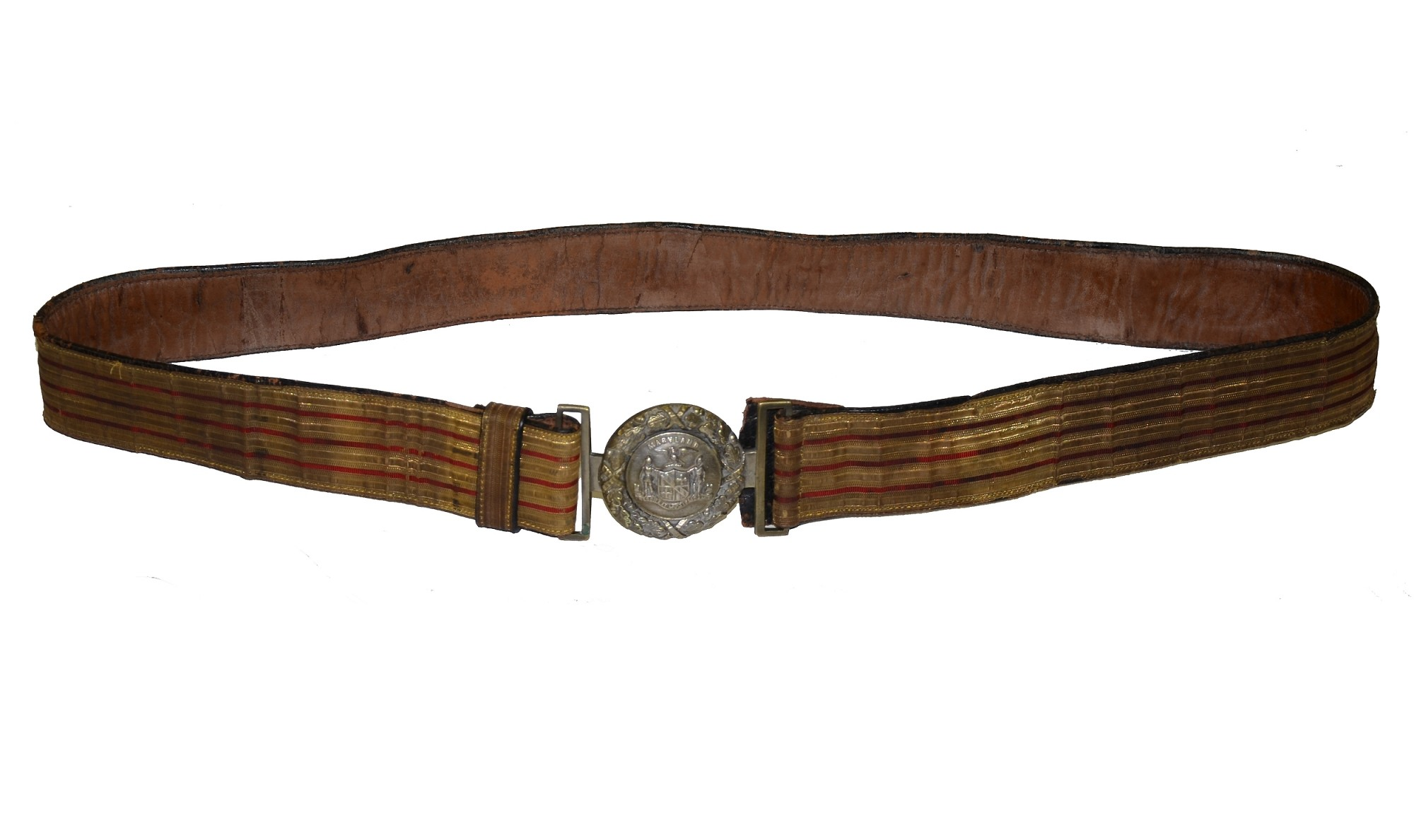 POST-CIVIL WAR MARYLAND BELT WITH TWO PIECE BUCKLE