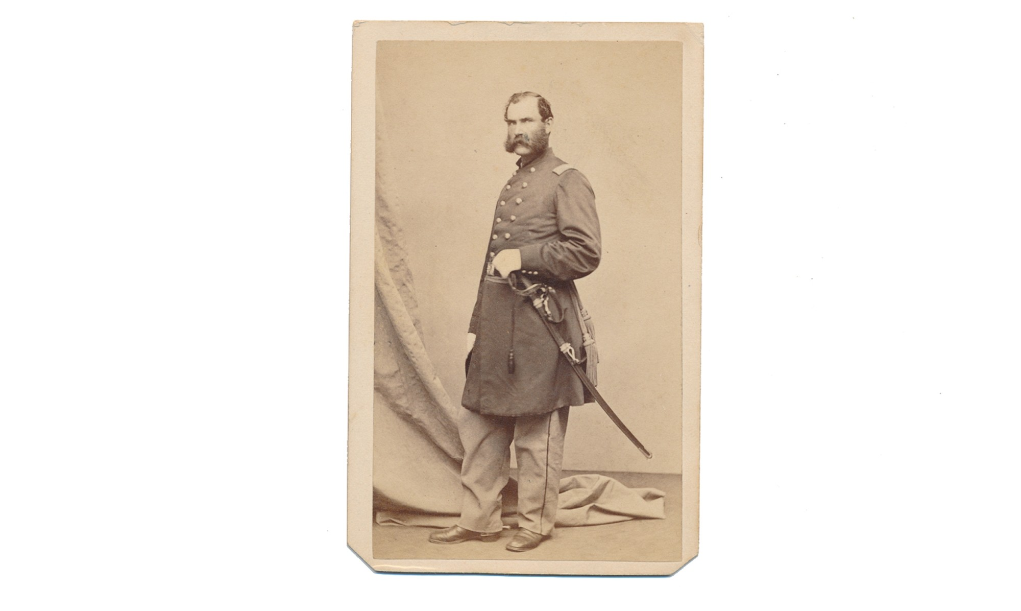CDV OF US COLONEL ALBERT S. FOLLANSBEE, 6th MASSACHUSETTS INFANTRY