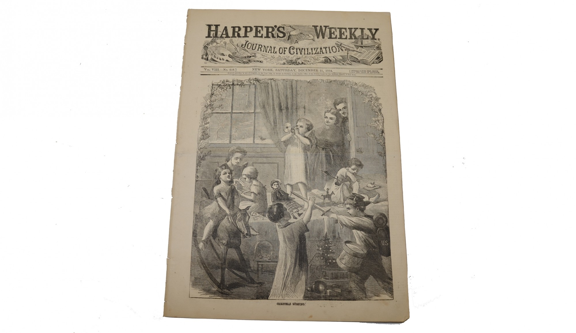 HARPER'S WEEKLY DECEMBER 31, 1864 – CHRISTMAS AND NEW YEAR'S