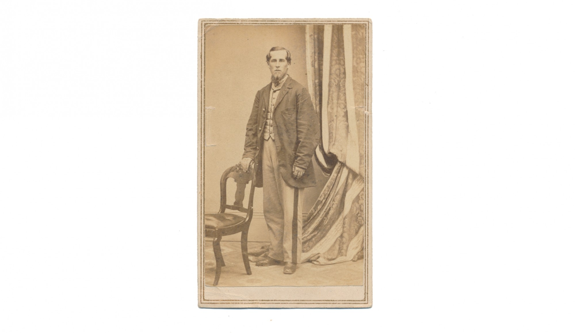 CDV OF JAMES A. BEAKES, 124TH NEW YORK INFANTRY