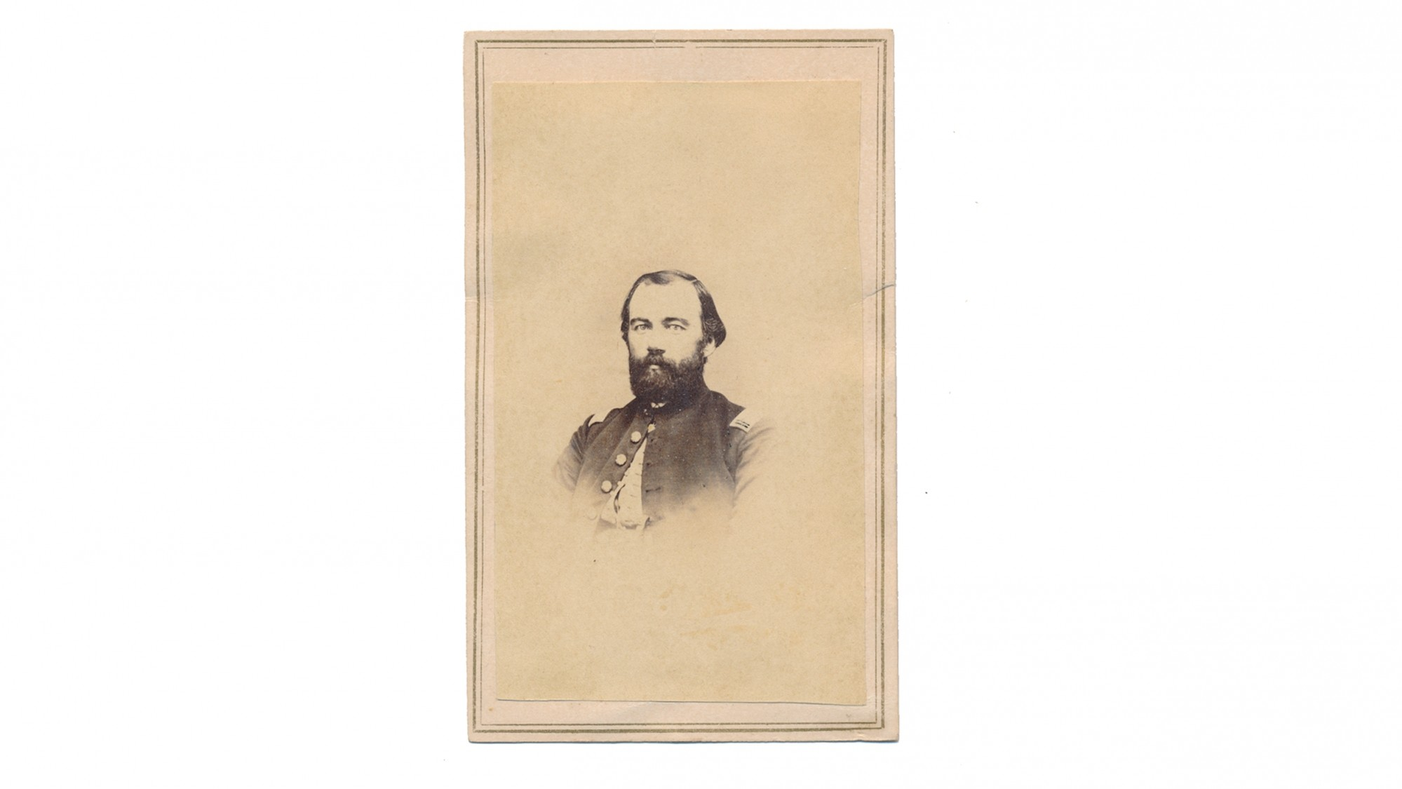 CDV OF JAMES W. BENEDICT, 124TH NEW YORK INFANTRY
