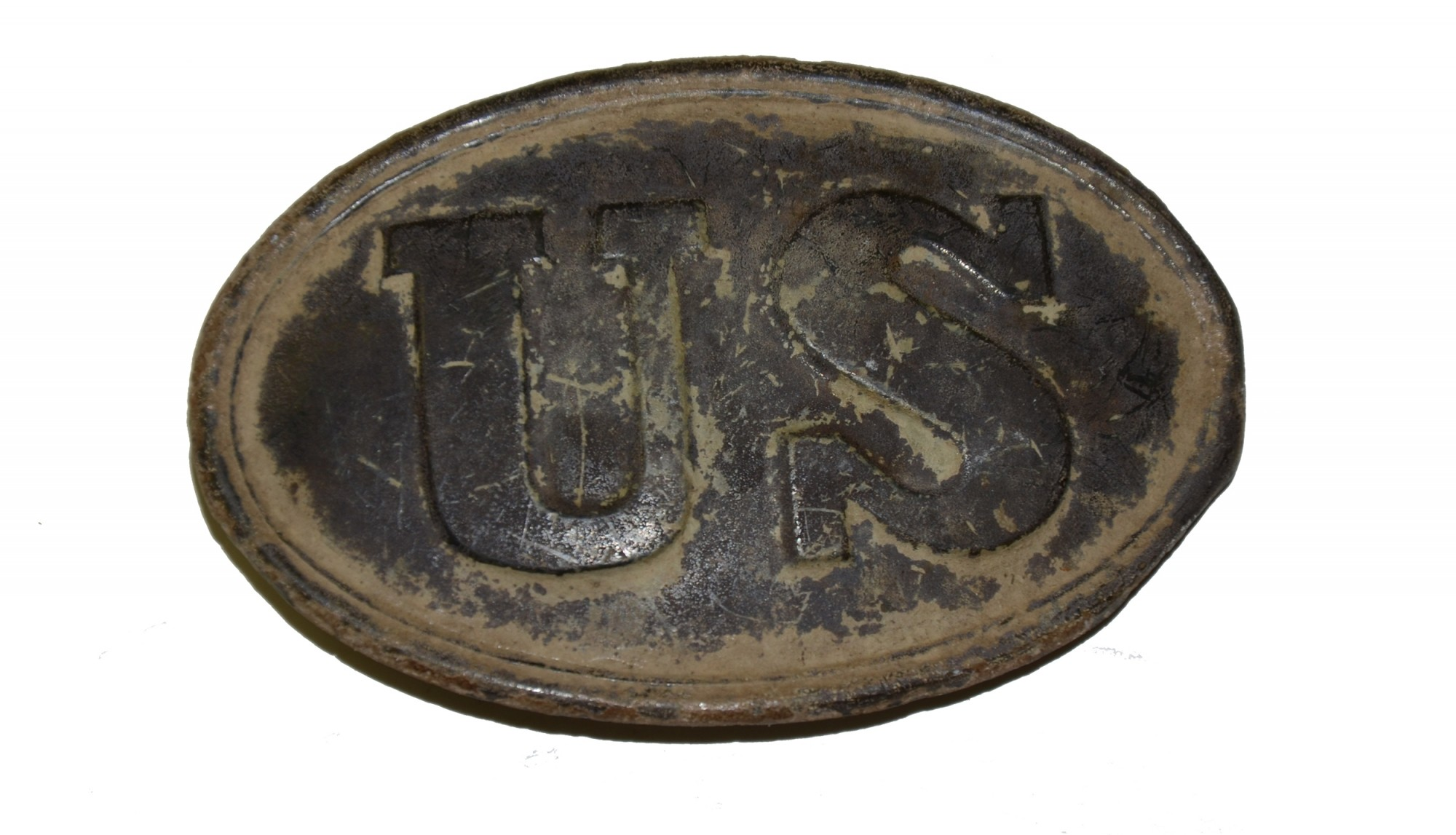 US PATTERN 1839 BELT PLATE FOUND ON POWERS' HILL AT GETTYSBURG
