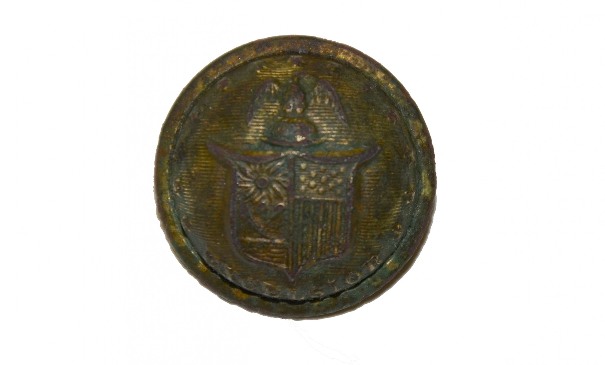 NEW YORK STATE JACKET BUTTON FOUND AT THE 2ND CORPS HOSPITAL SITE AT GETTYSBURG