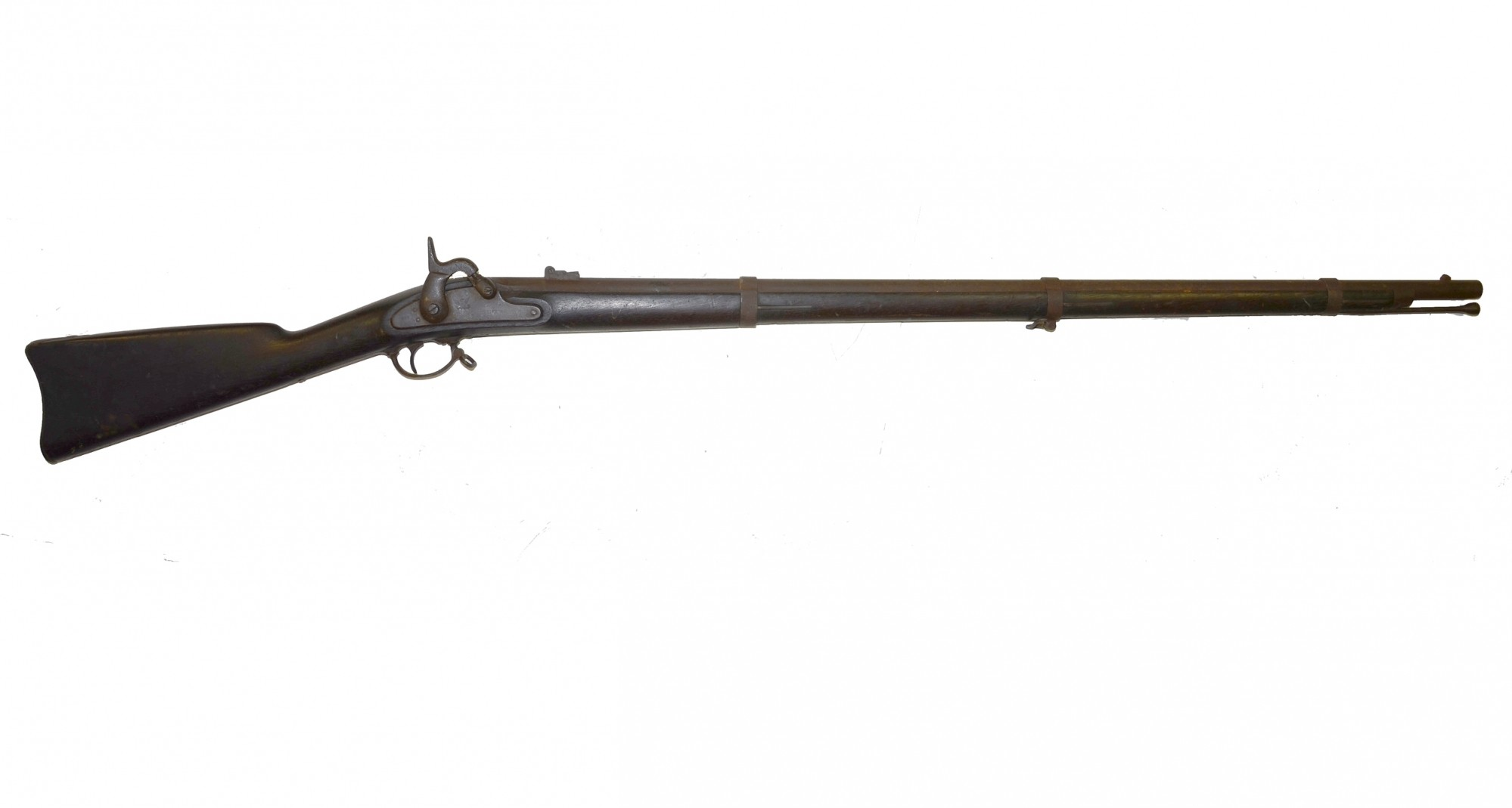 ATTIC CONDITION US MODEL 1861 TRENTON CONTRACT RIFLE MUSKET ISSUED TO NEW JERSEY TROOPS!