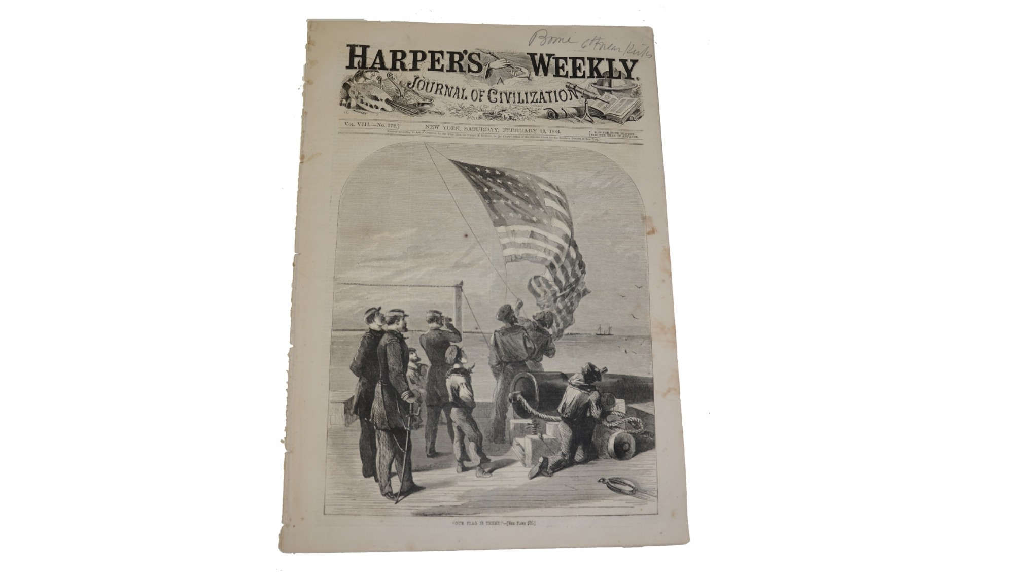 HARPER'S WEEKLY DATED FEBRUARY 13, 1864 – MOBILE BLOCKADE; GETTYSBURG