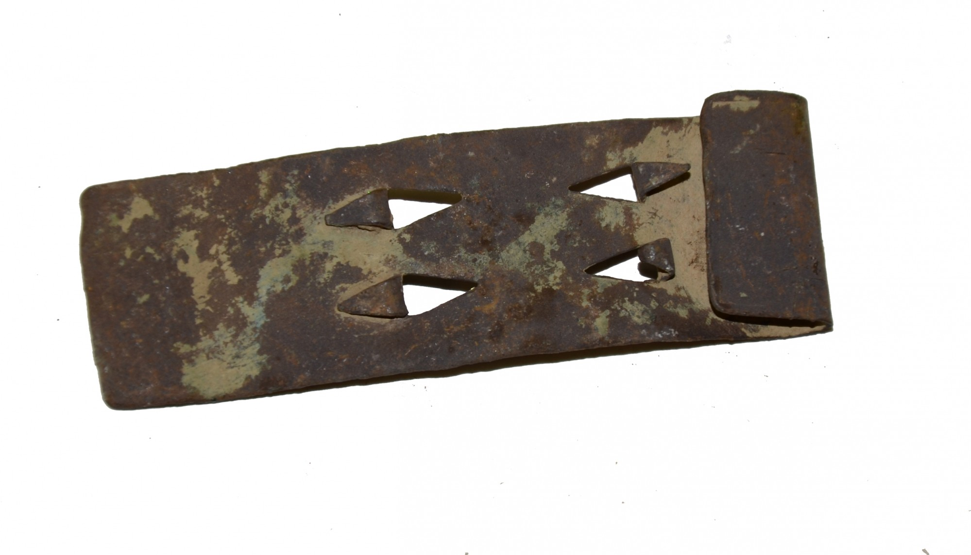 FLAT US BELT KEEPER RECOVERED FROM GETTYSBURG