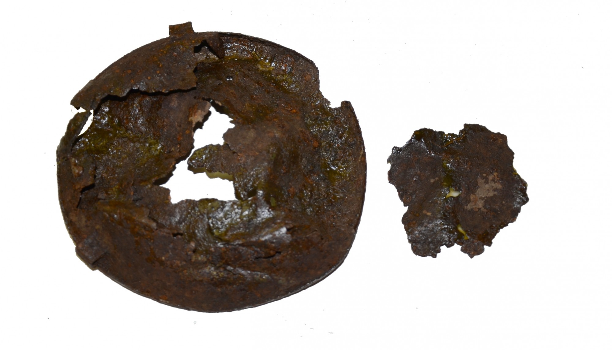 REMAINS OF A US CANTEEN RECOVERED AT GETTYSBURG