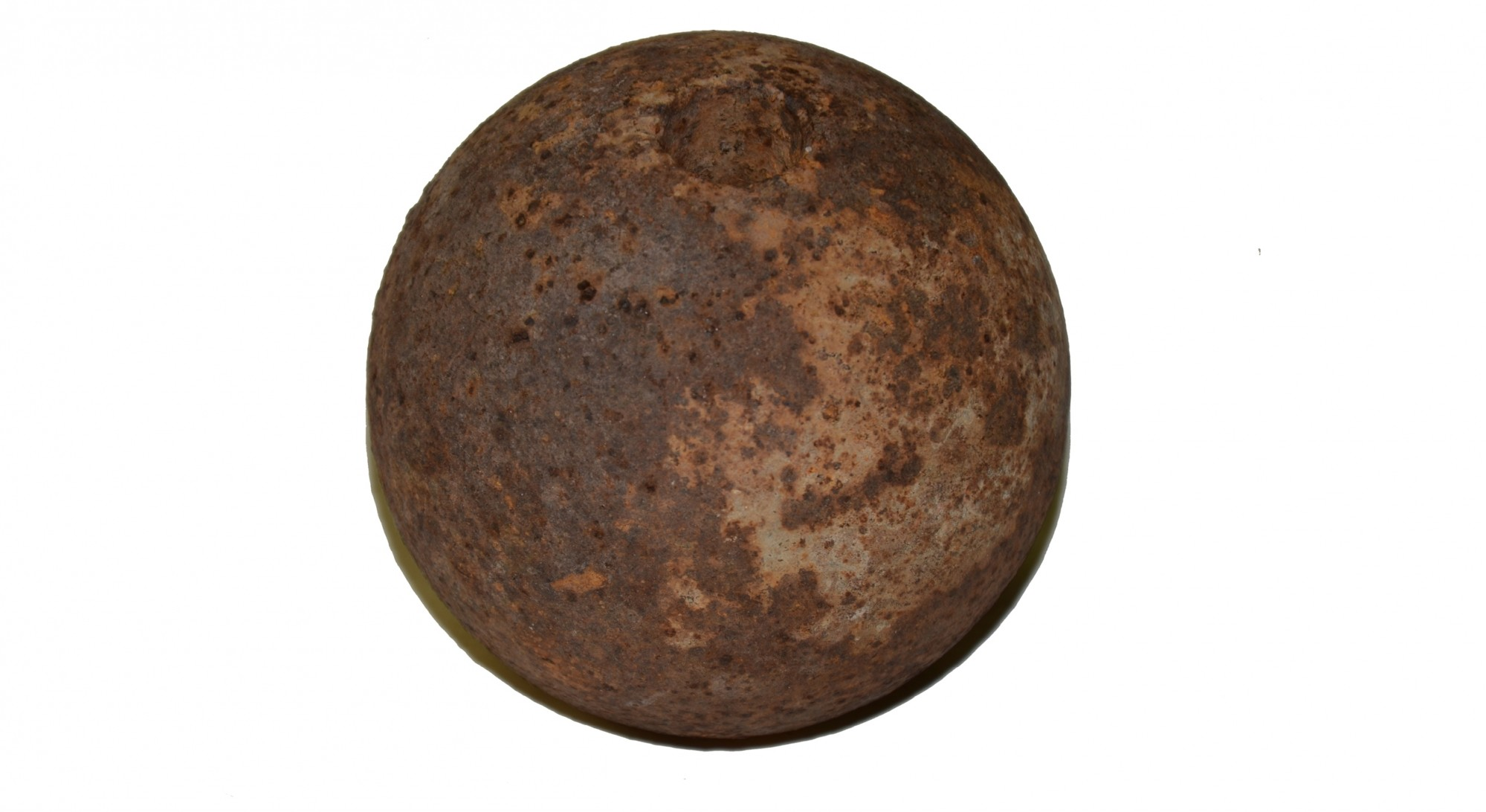 CS 4.52 INCH 12 POUNDER SPHERICAL SHELL FOUND AT GETTYSBURG