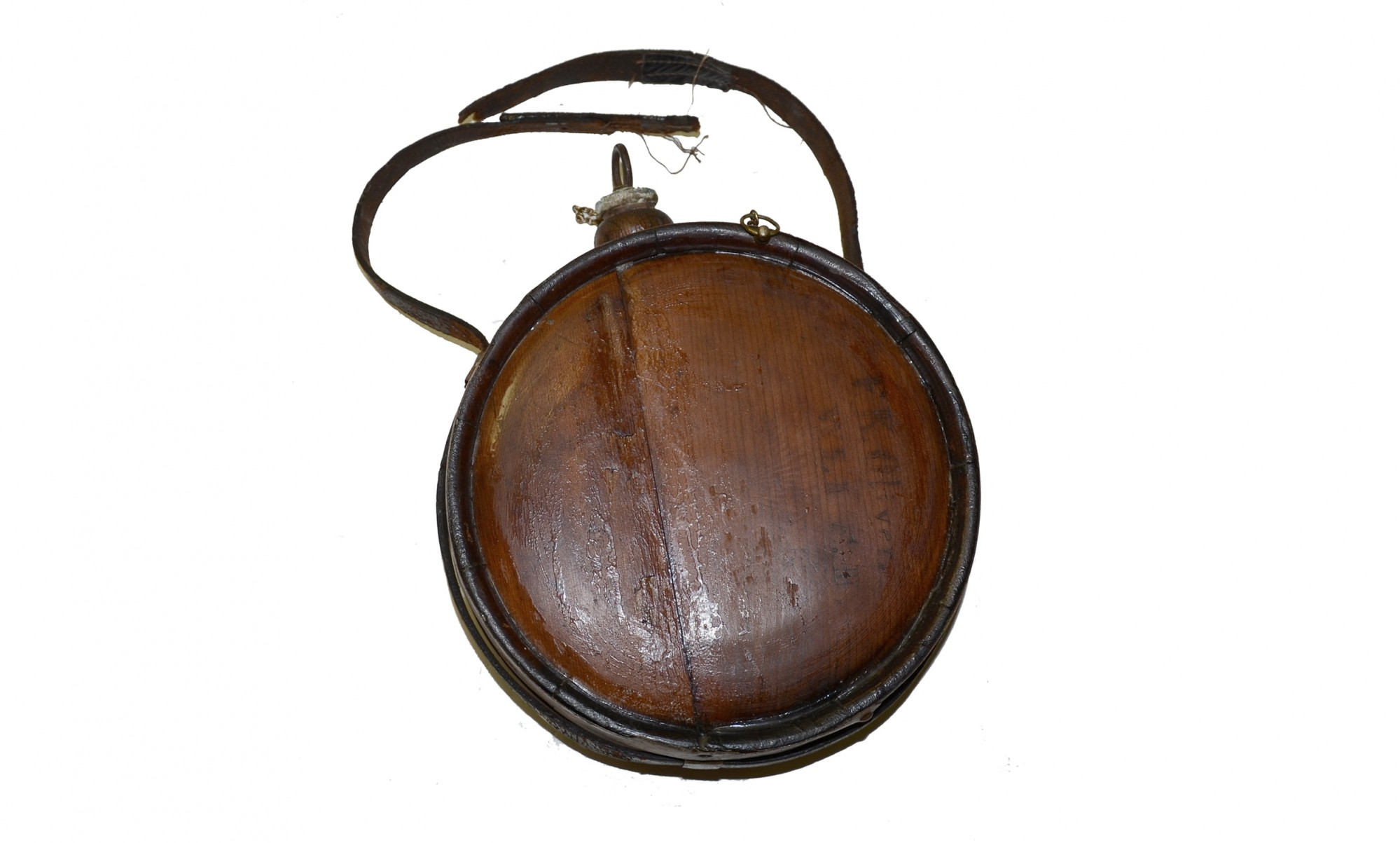 WOOD DRUM CANTEEN IDENTIFIED TO 25TH SOUTH CAROLINA SOLDIER