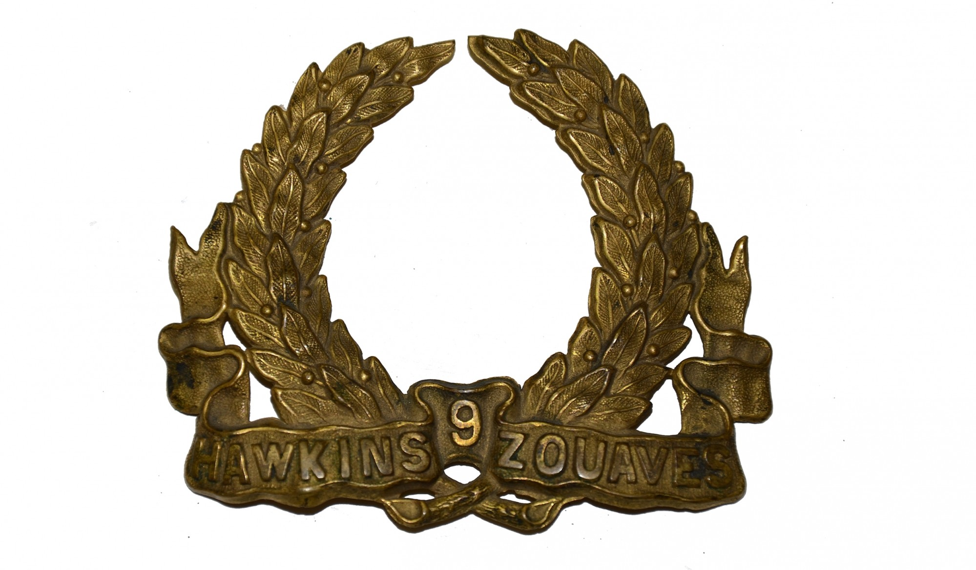 HAWKINS ZOUAVES, 9th NEW YORK INFANTRY HAT INSIGNIA
