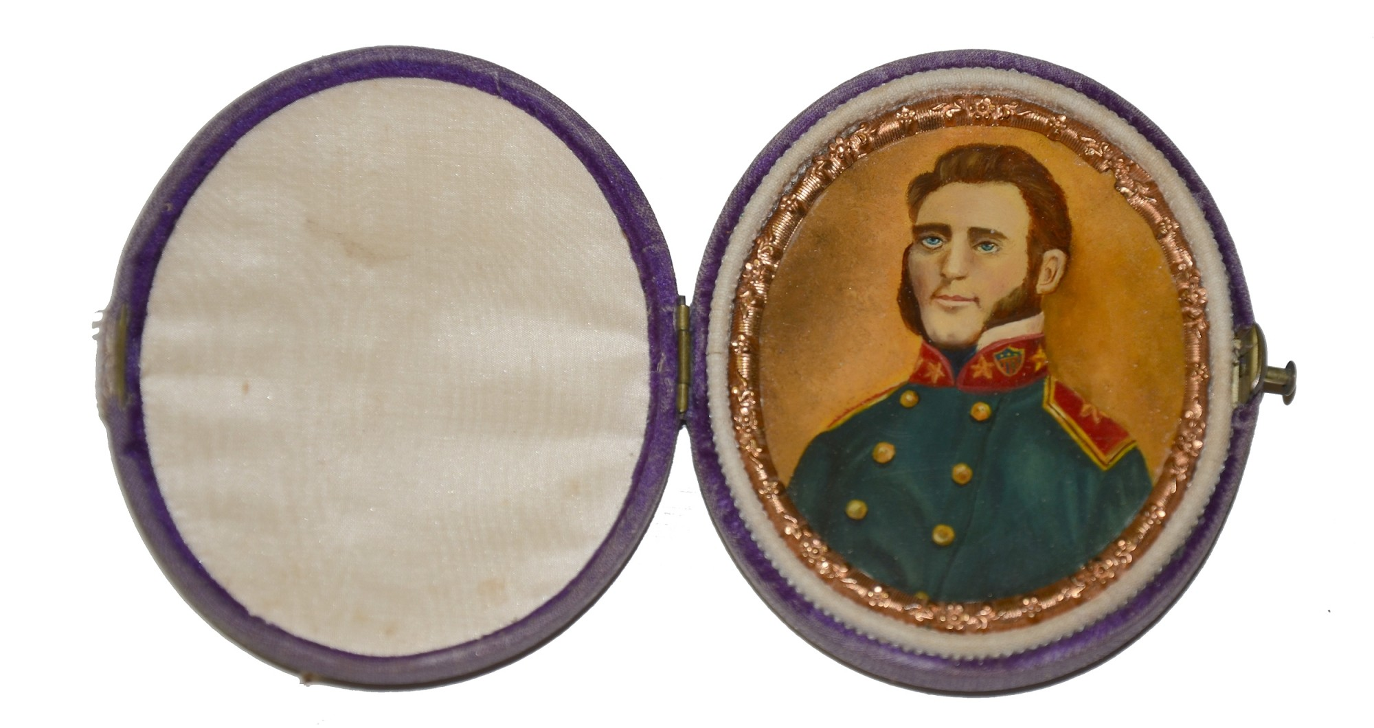 STONEWALL JACKSON PAINTED ON IVORY, 1864