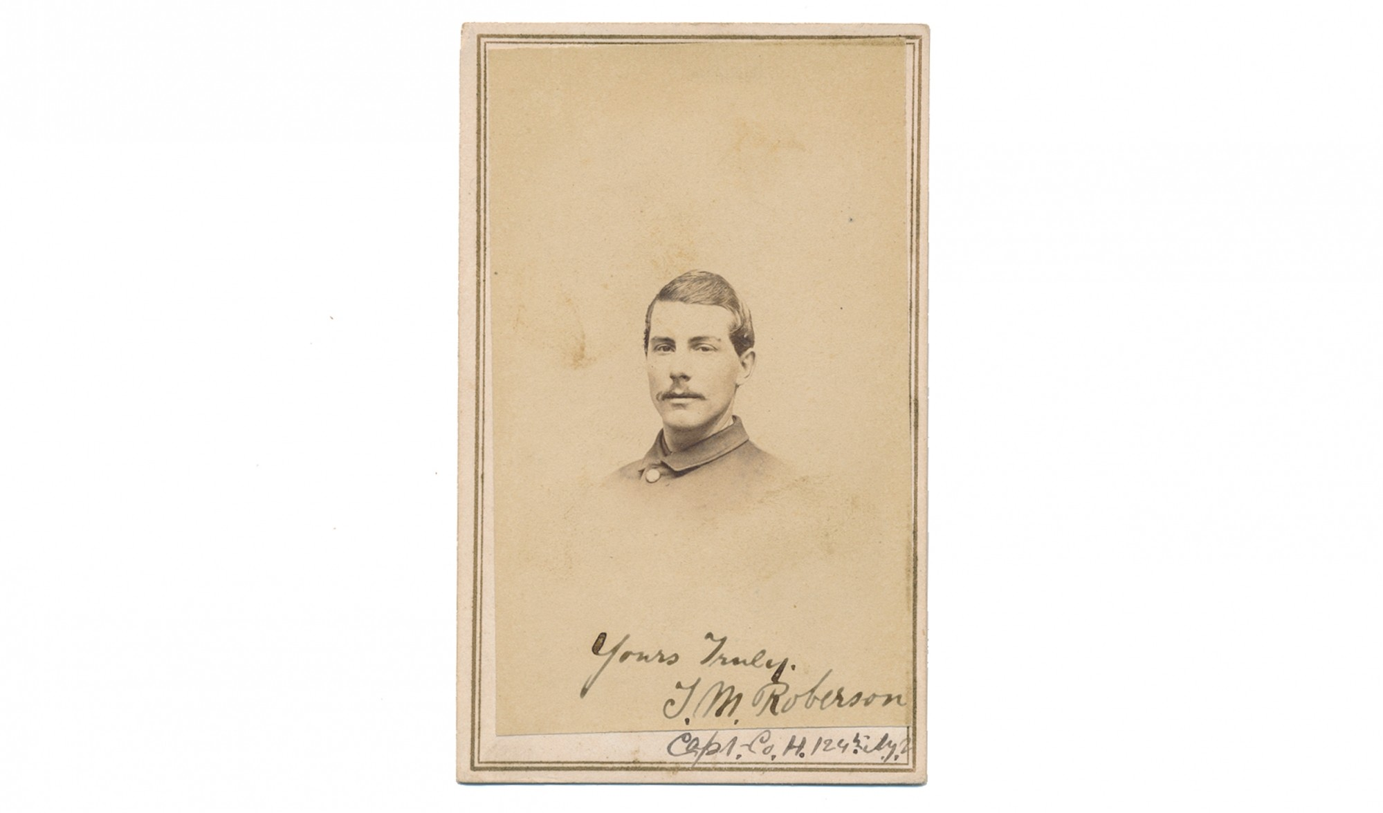CDV OF CAPTAIN THEODORE M. ROBERSON, 124th NEW YORK INFANTRY