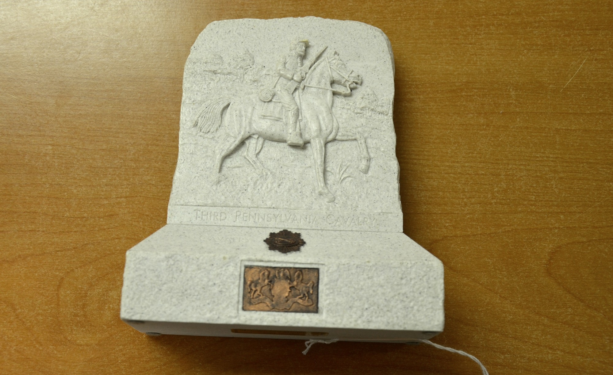 RESIN MINIATURE OF THE 3RD PENNSYLVANIA CAVALRY MONUMENT AT GETTYSBURG
