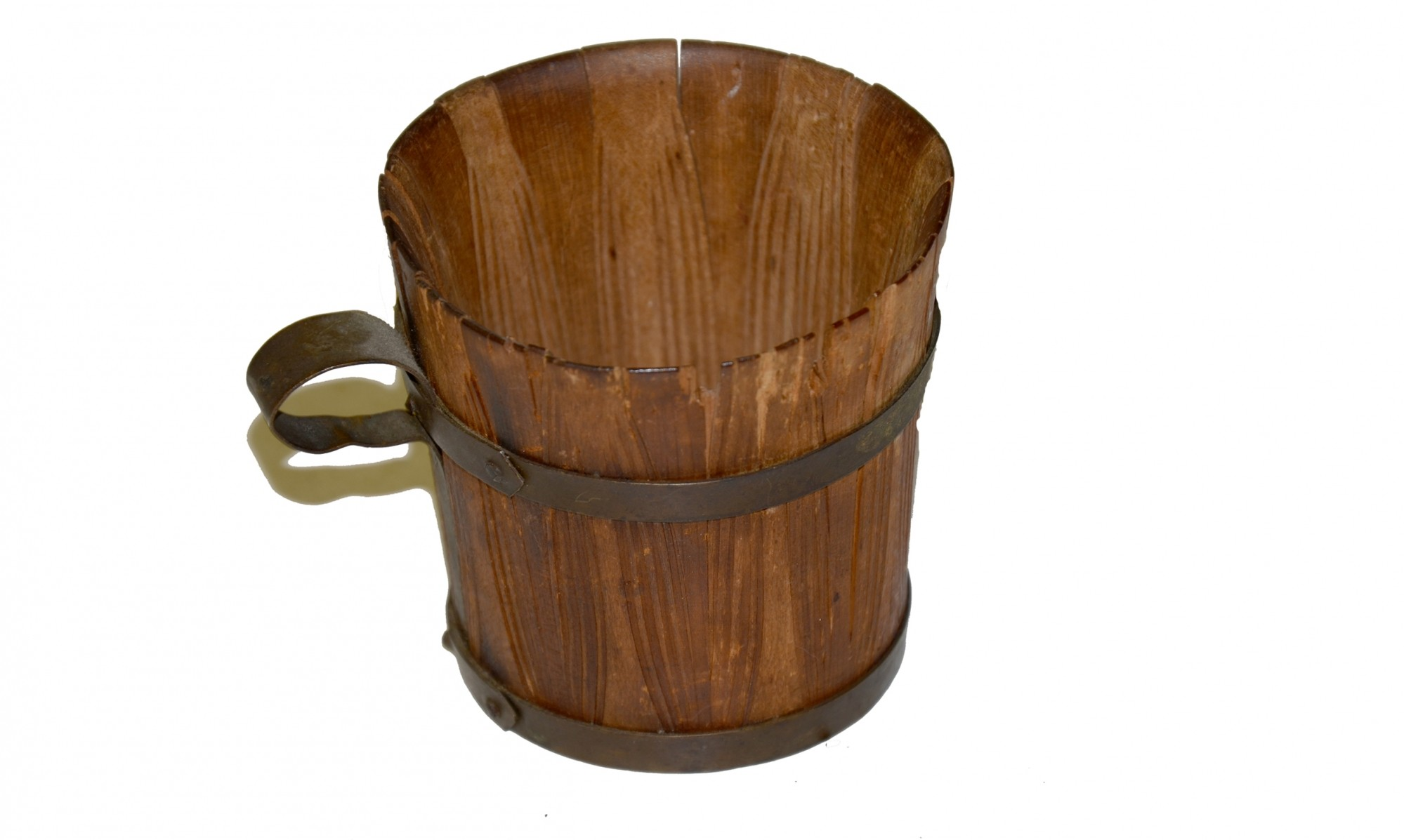 CONFEDERATE POW ART, WOODEN CUP, NASHVILLE, 1862