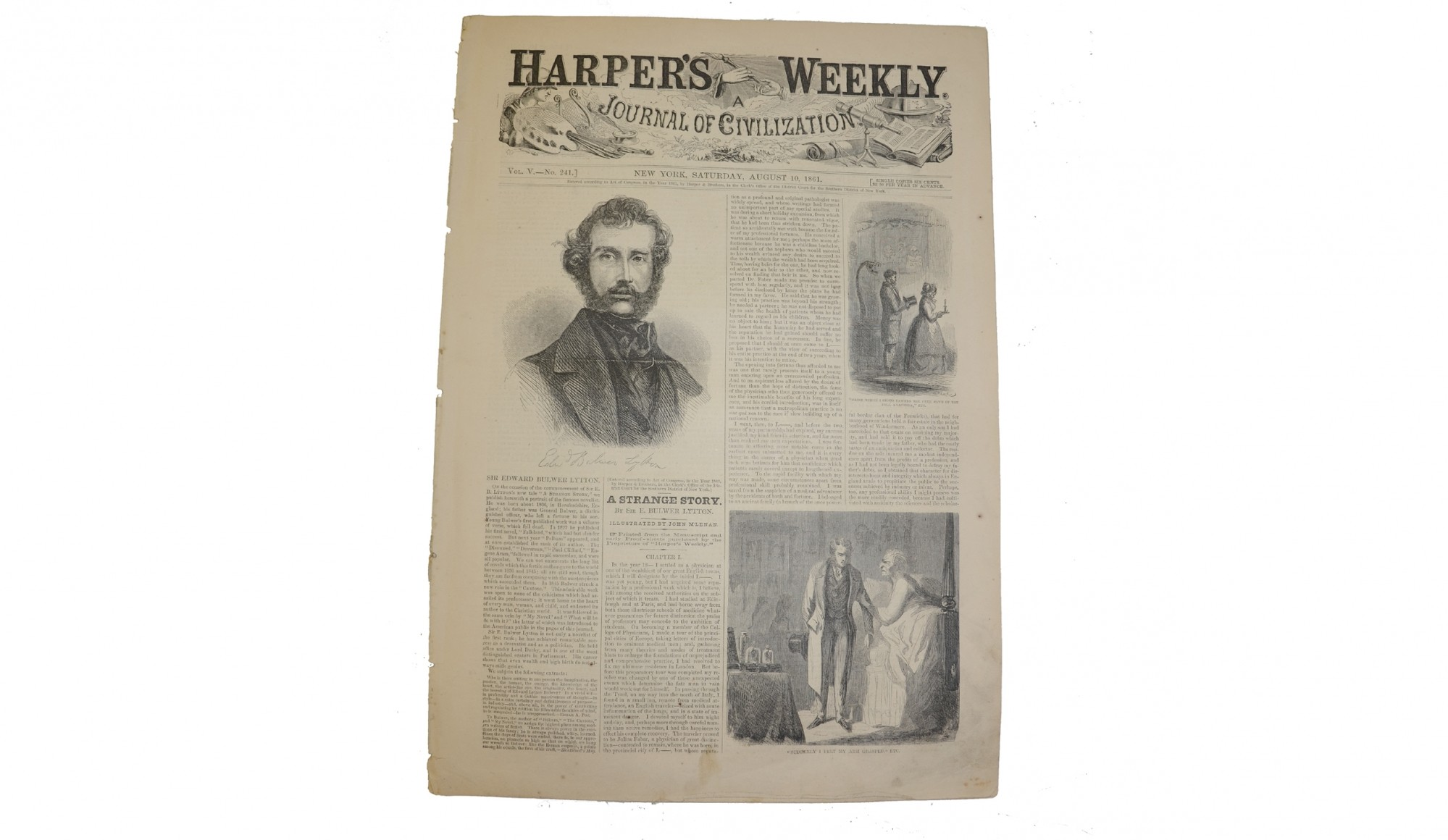 HARPER'S WEEKLY, DATED AUGUST 10, 1861 - 1ST BULL RUN ISSUE