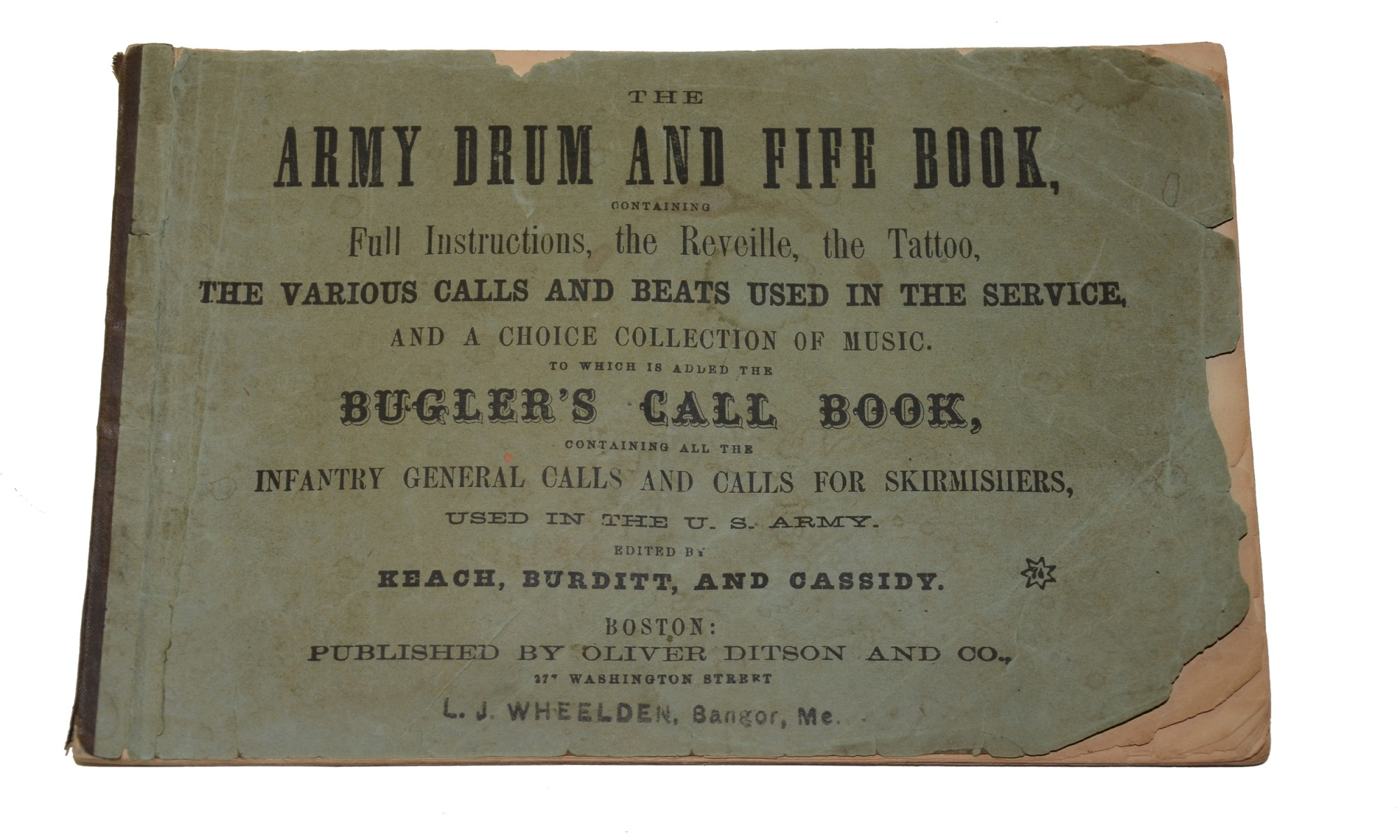 1861 DATED ARMY DRUM AND FIFE BOOK