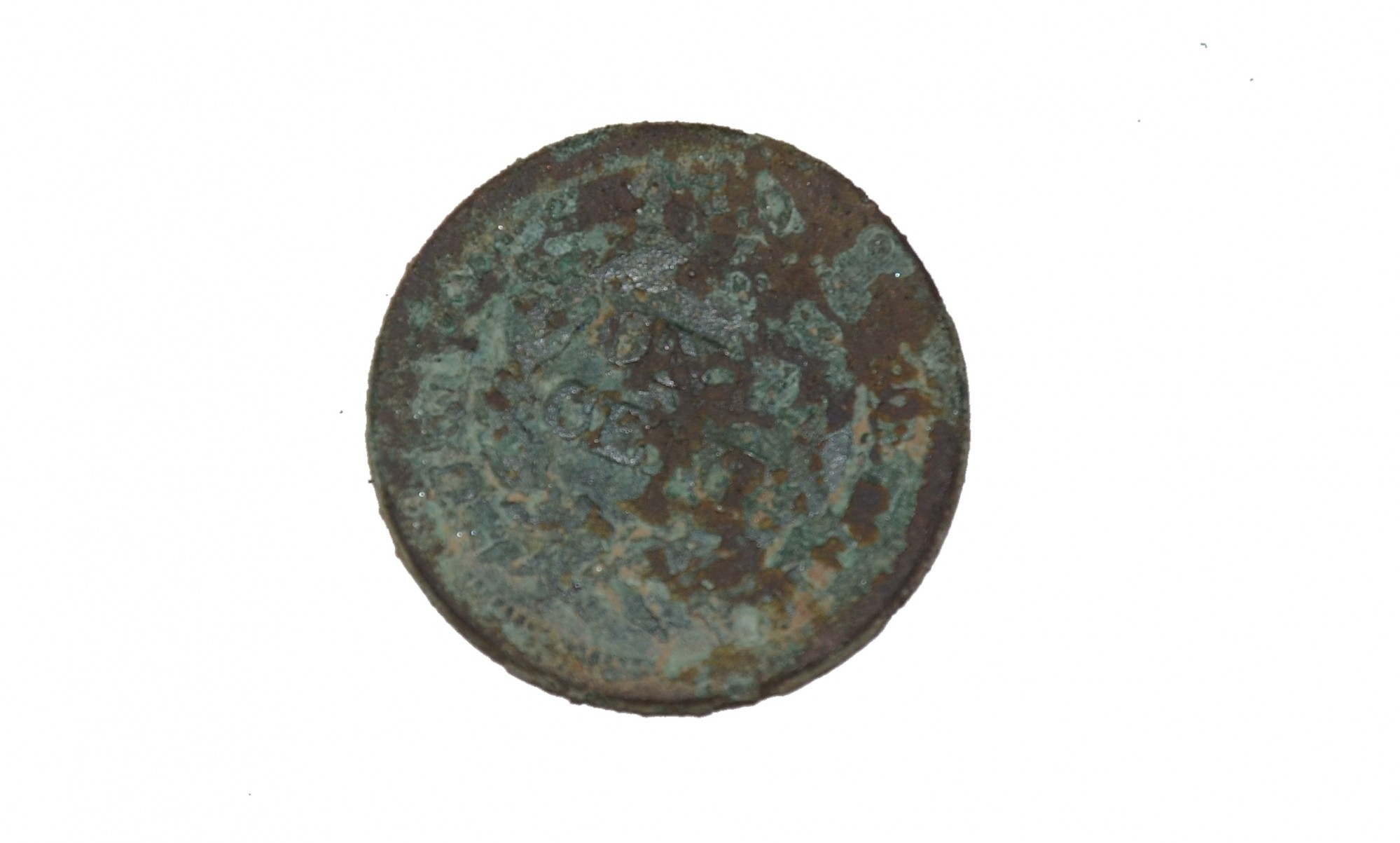 LARGE CENT RECOVERED ON EAST CAVALRY FIELD AT GETTYSBURG