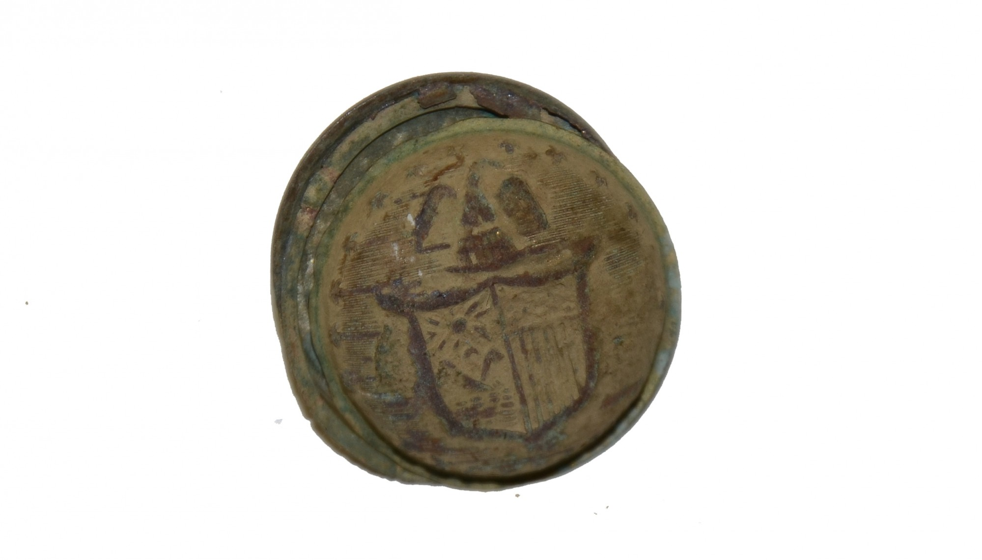 NEW YORK COAT BUTTON RECOVERED NEAR CULP'S HILL