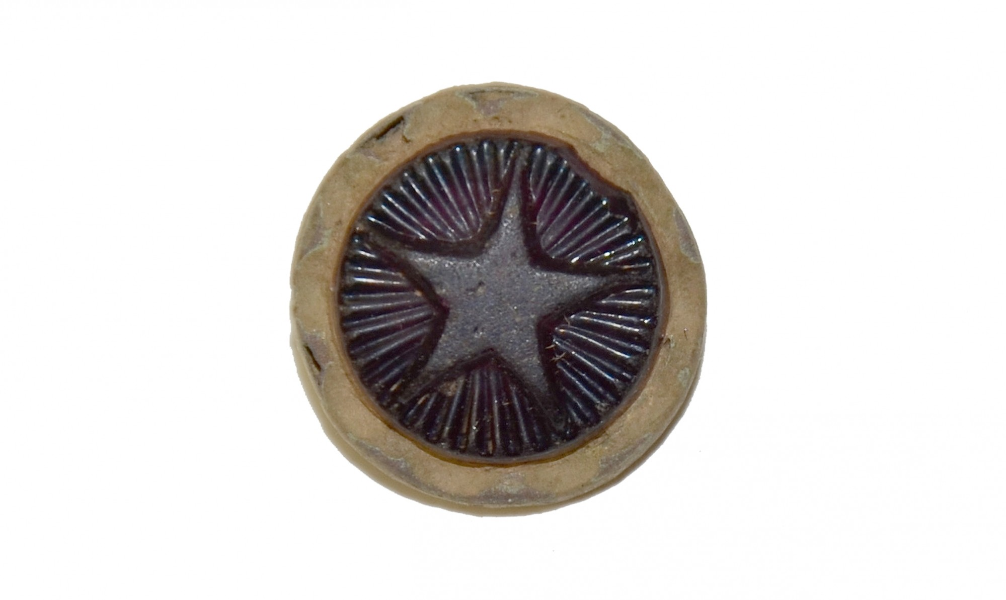 GUTTA PERCHA BUTTON RECOVERED NEAR CULP'S HILL