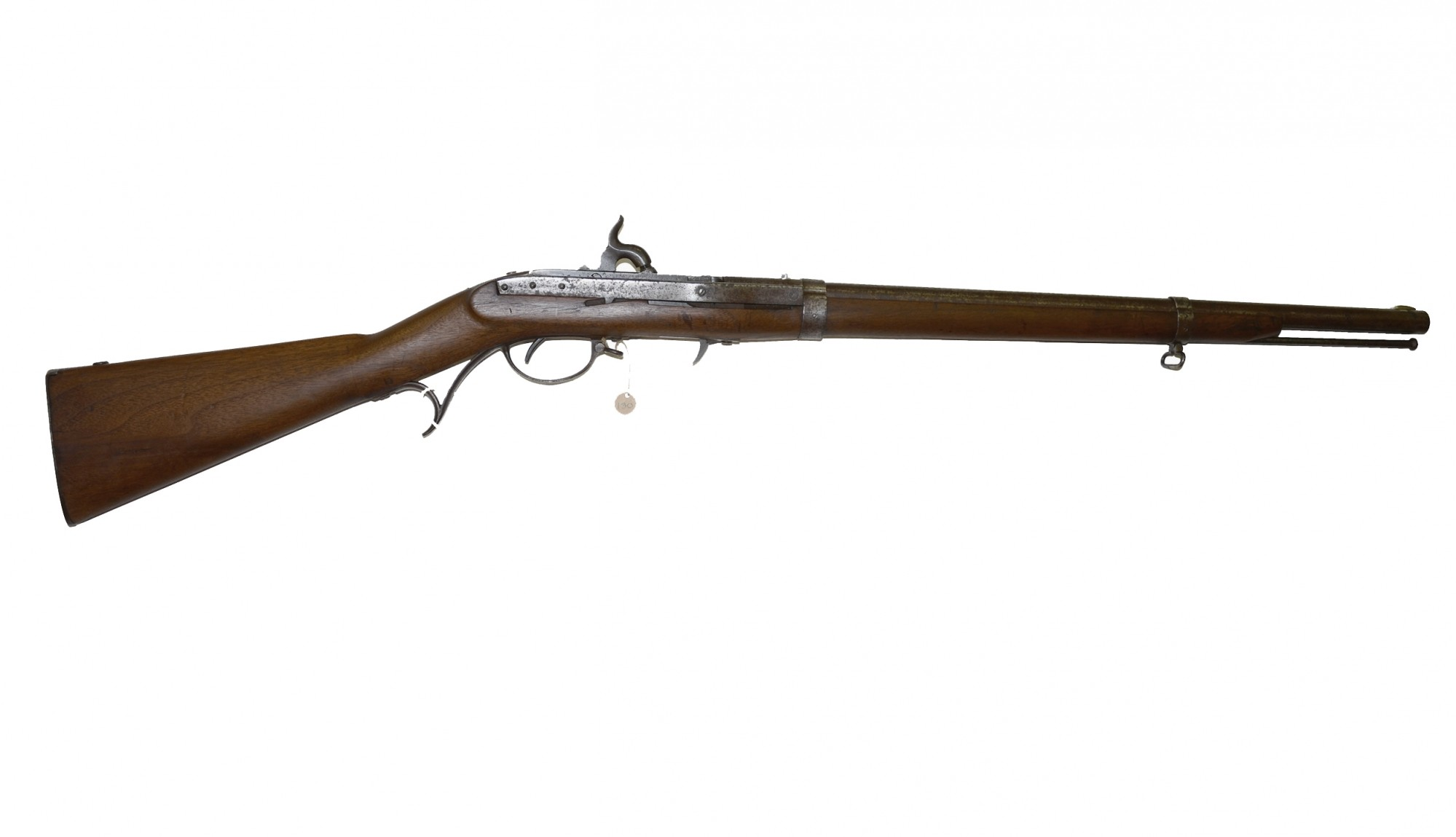 CUTDOWN HARPER'S FERRY MODEL 1841 HALL RIFLE - POSSIBLE CONFEDERATE ALTERATION