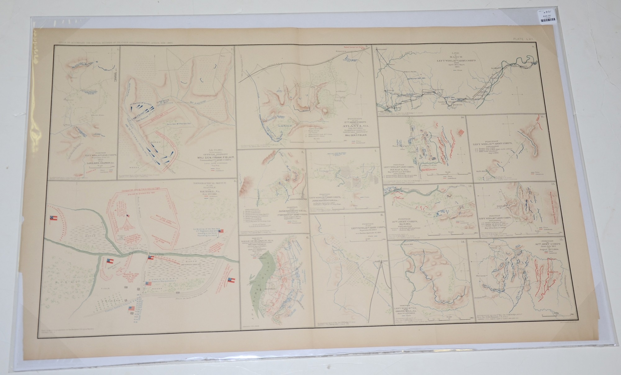 MAPS OF OPERATIONS IN VIRGINIA AND GEORGIA DURING THE SUMMER OF 1864