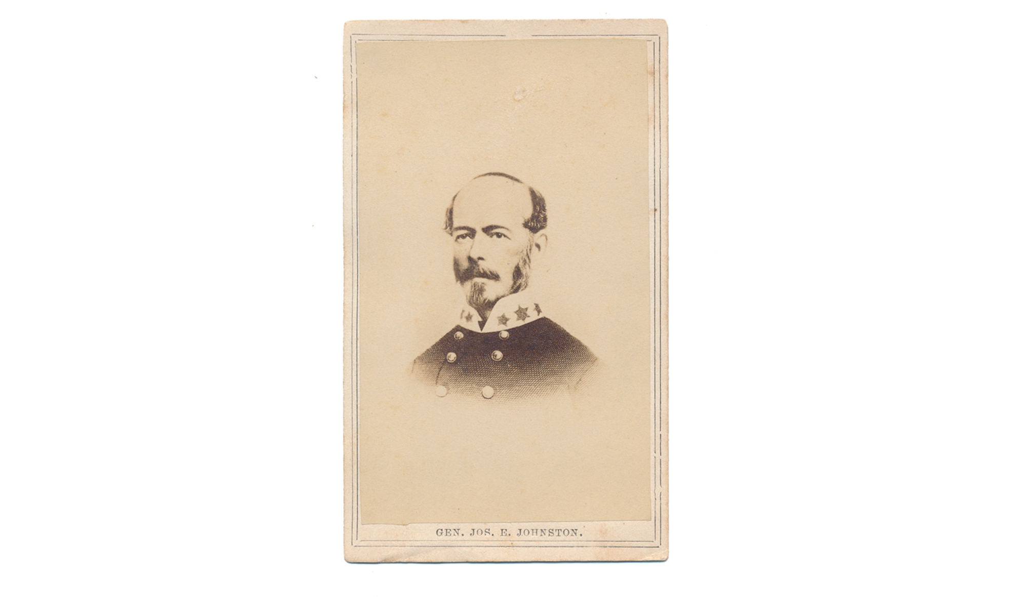 WARTIME CDV LITHOGRAPH OF CONFEDERATE GENERAL JOSEPH E. JOHNSTON