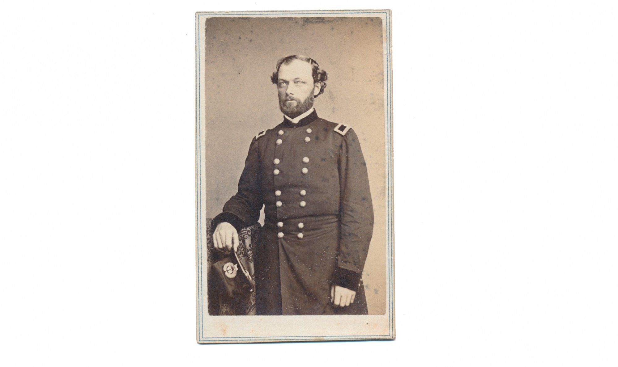 THREE-QUARTER STANDING VIEW OF QUINCY A. GILLMORE AS A BRIGADIER GENERAL