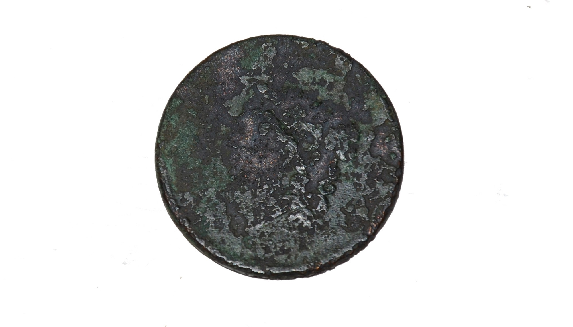 LARGE CENT RECOVERED NEAR EAST CAVALRY FIELD AT GETTYSBURG