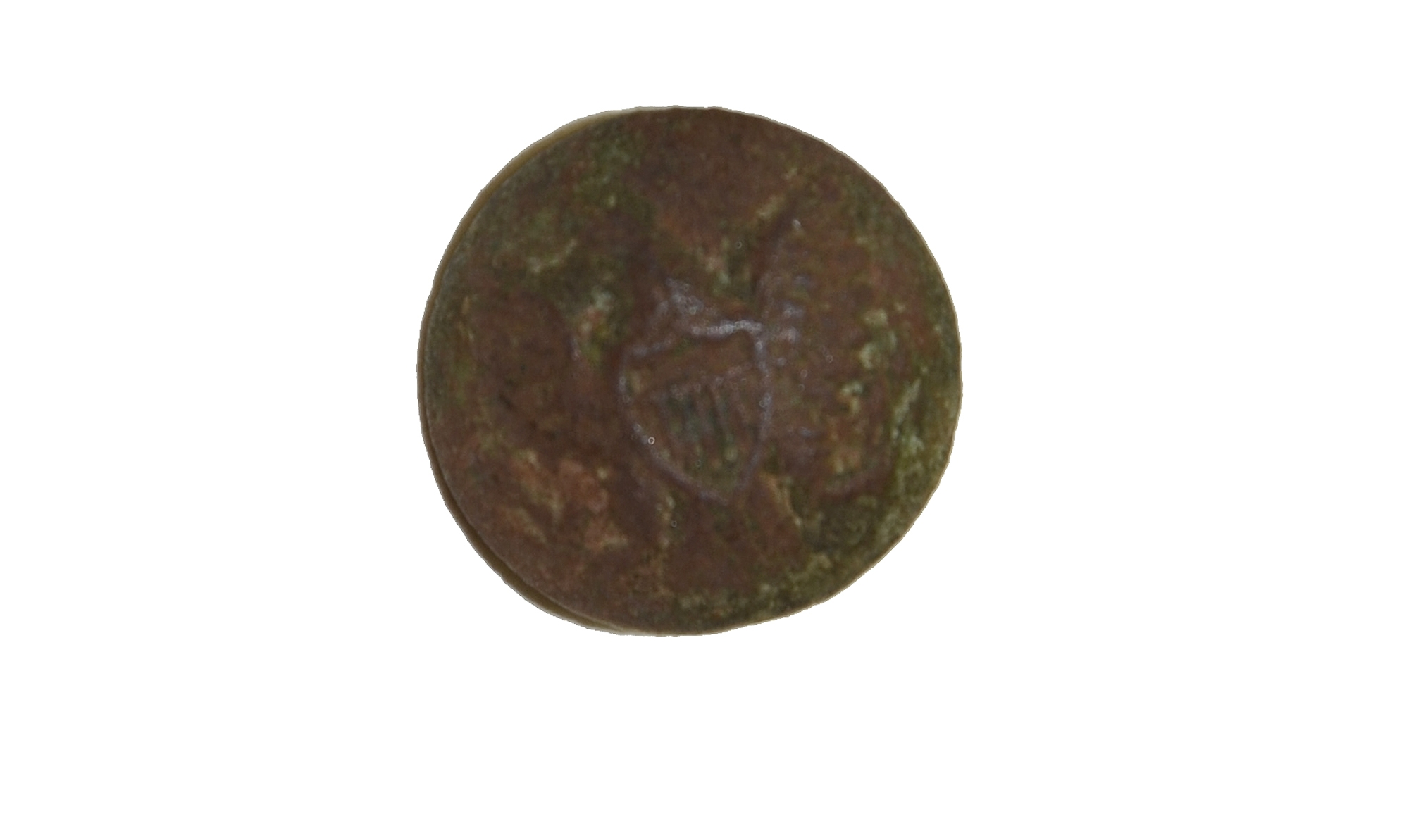 US ENLISTEDMAN'S CUFF BUTTON RECOVERED AT GETTYSBURG