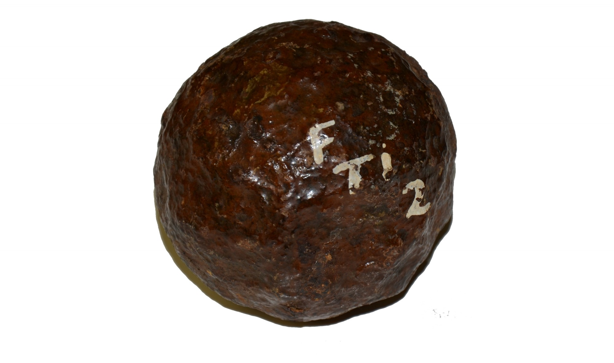 6-POUND REVOLUTIONARY WAR CANNONBALL FROM FORT TICONDEROGA, NEW YORK