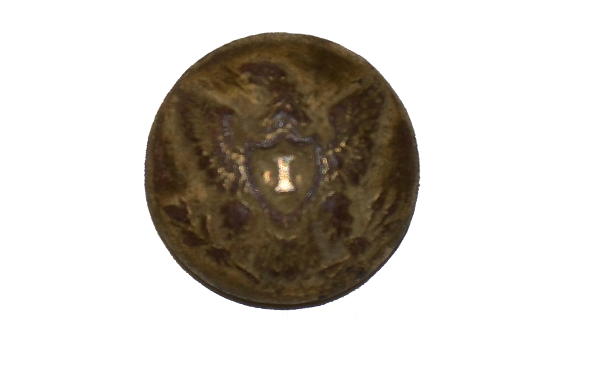 US INFANTRY CUFF BUTTON RECOVERED FROM GETTYSBURG