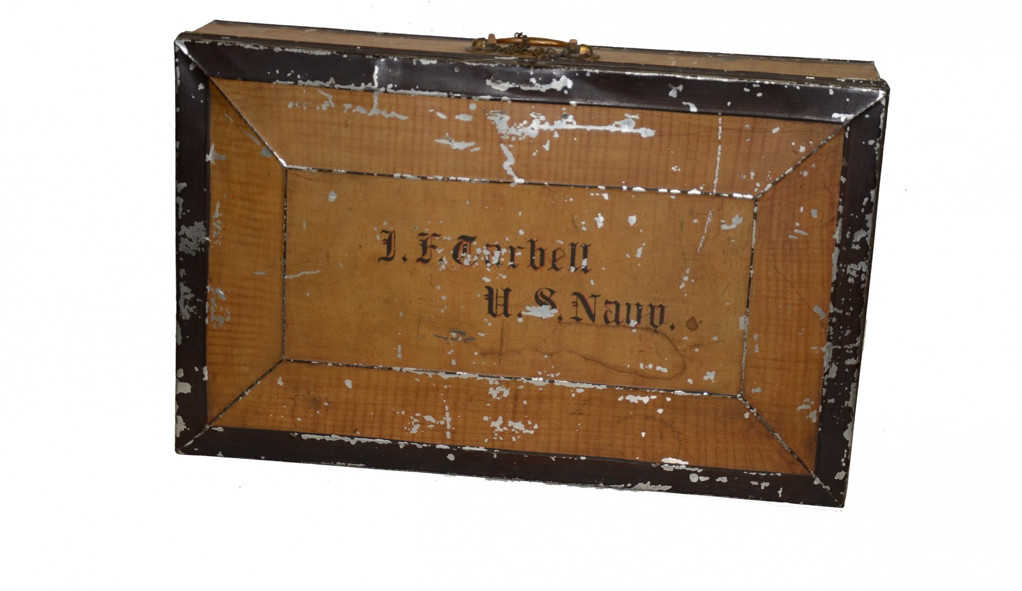 US NAVY TOLE SUITCASE IDENTIFIED TO CIVIL WAR PAYMASTER
