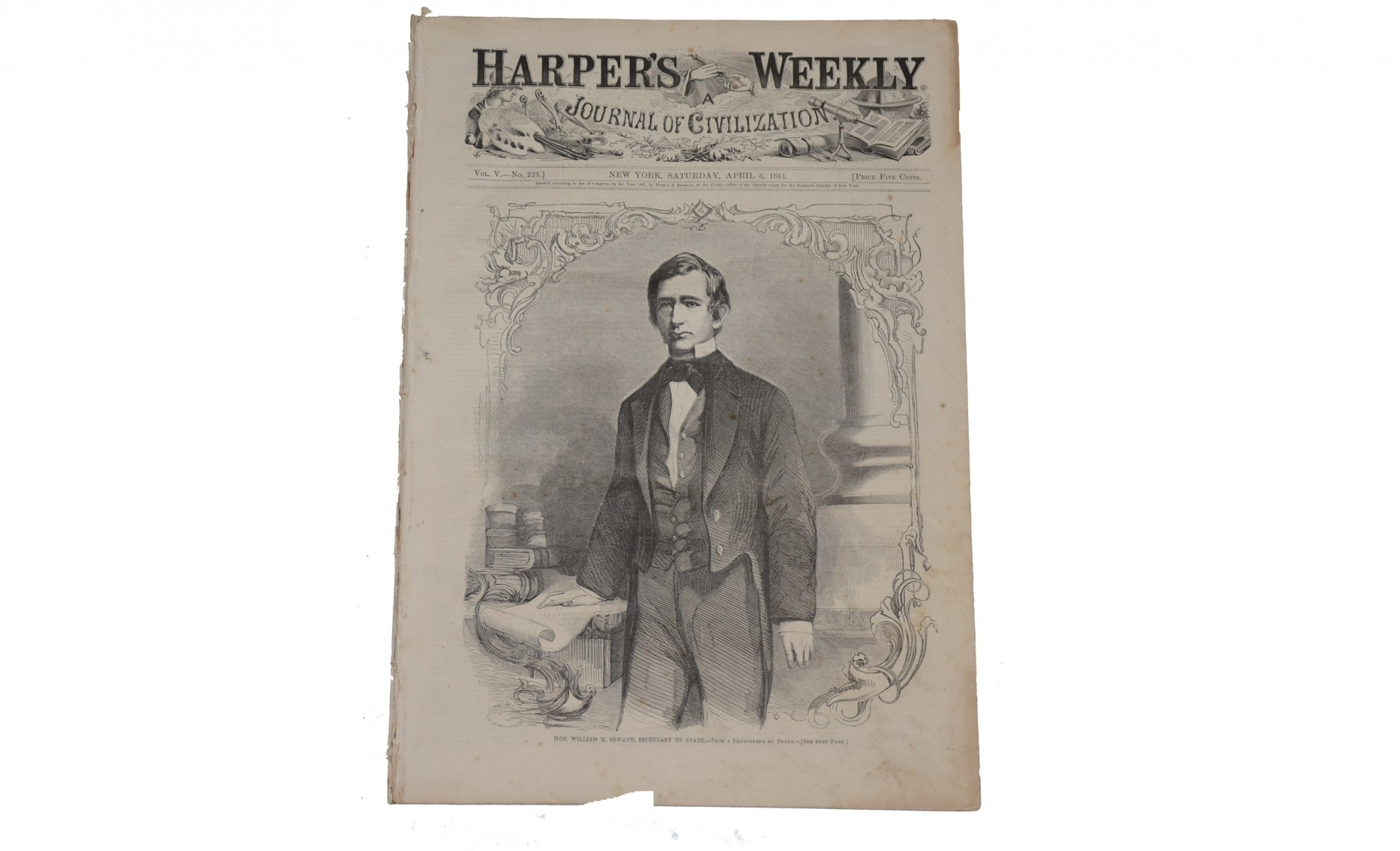 HARPER'S WEEKLY, NEW YORK, APRIL 6, 1861 – WILLIAM H. SEWARD