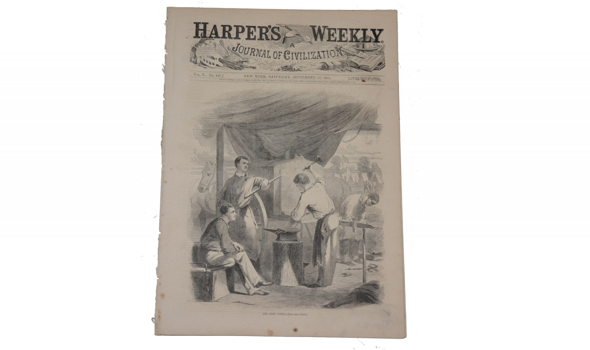 HARPER'S WEEKLY, NEW YORK, SEPTEMBER 21, 1861 – GEN. MCCLELLAN
