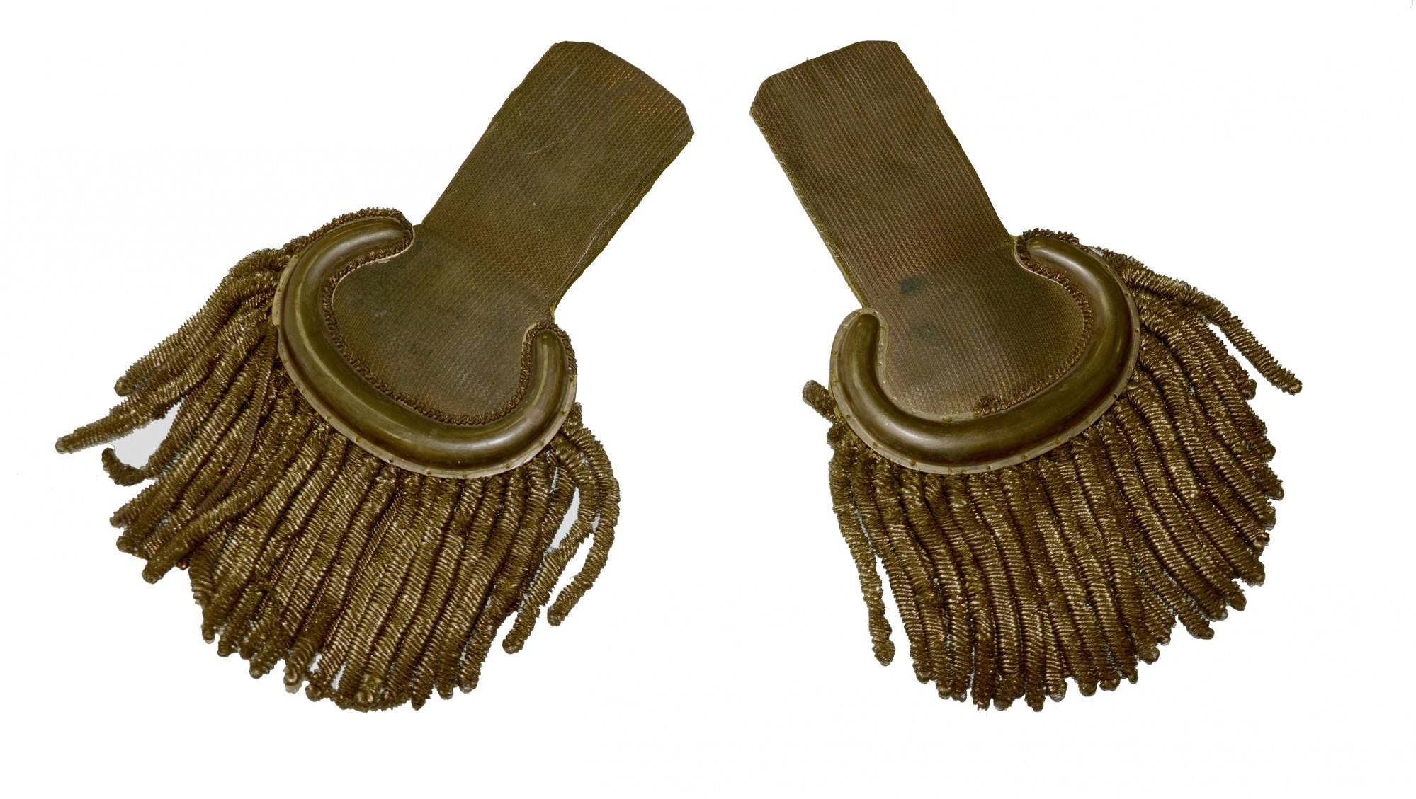 MILITIA EPAULETTES FROM GETTYSBURG COLLECTION
