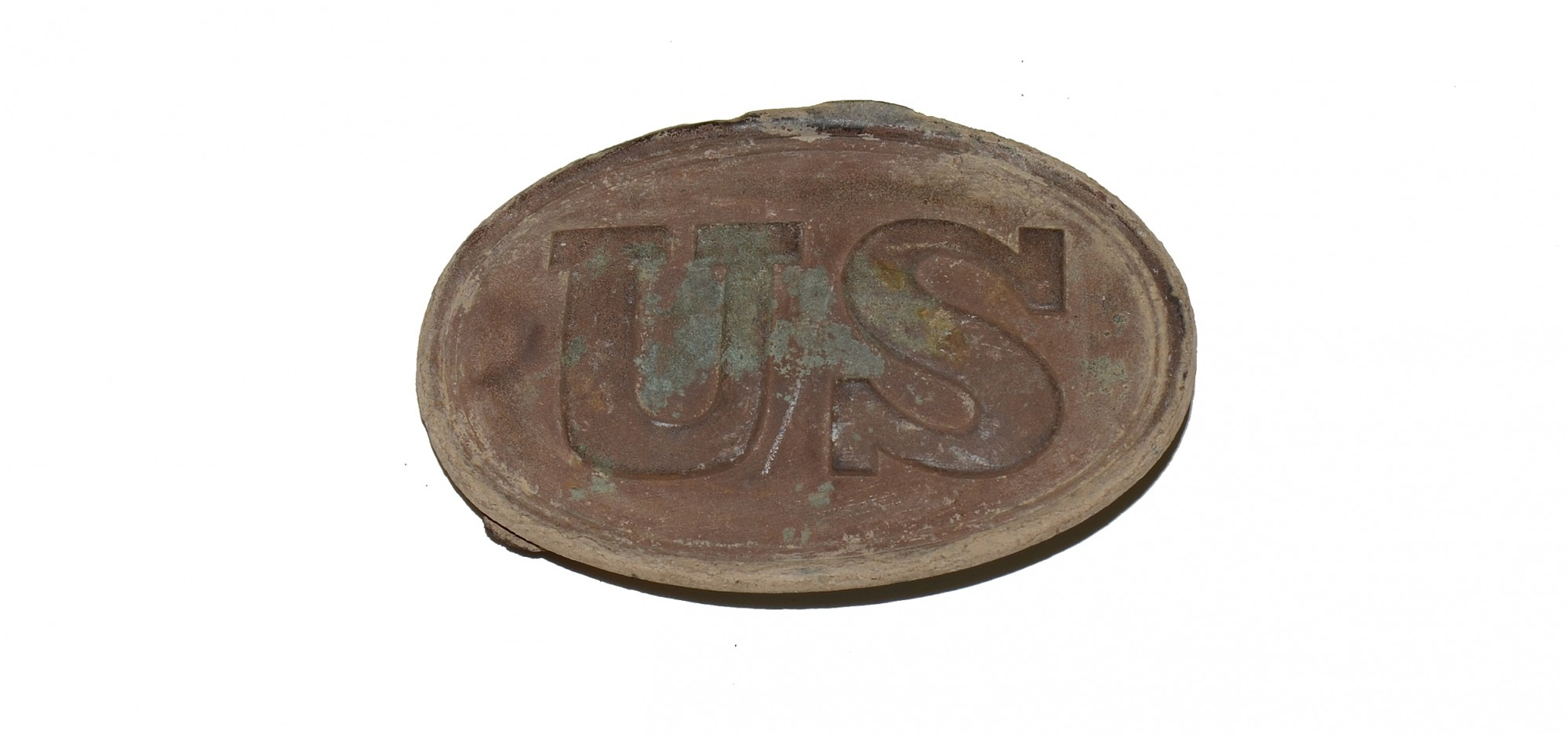 PATTERN 1839 US BELT PLATE FOUND IN 2nd & 5th CORPS SITE, THE WILDERNESS - BILL GAVIN COLLECTION