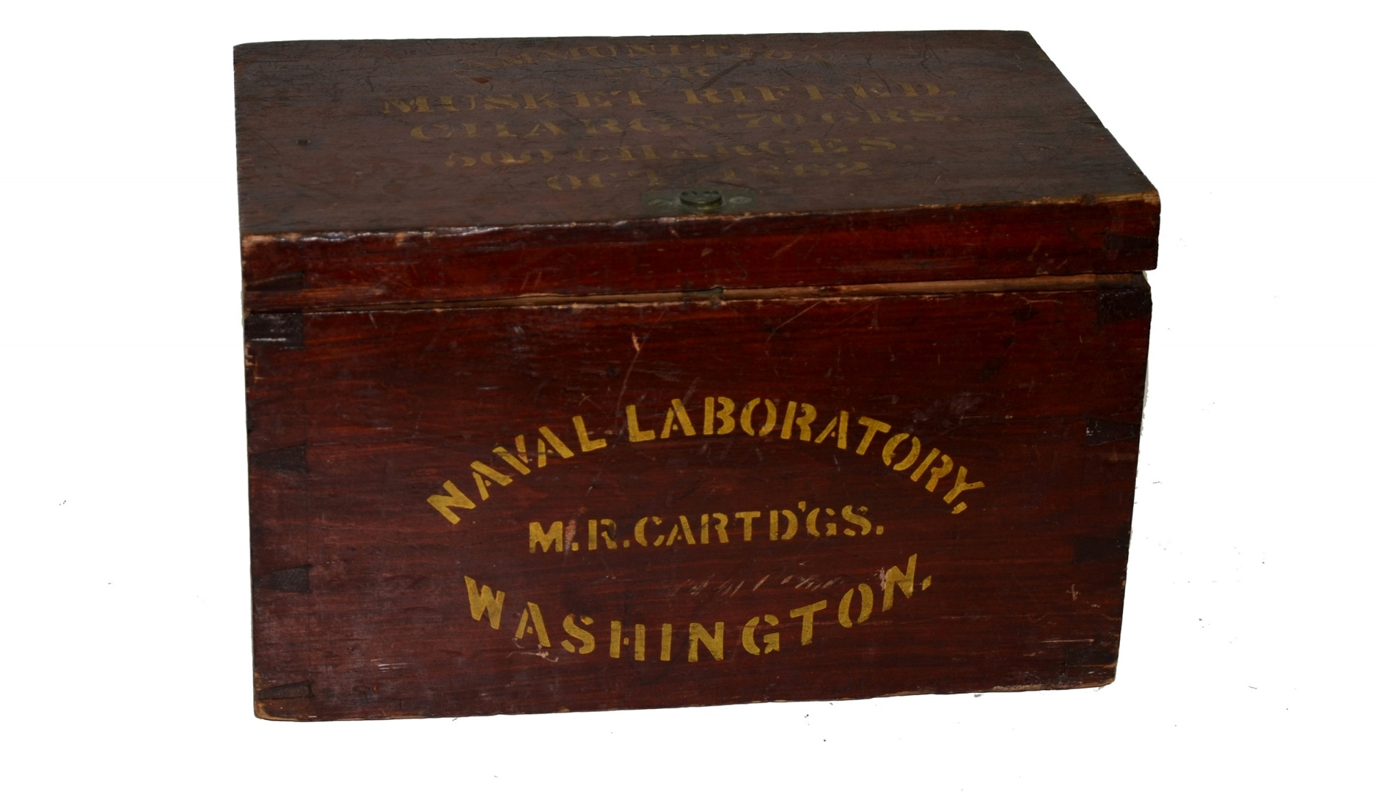 NAVAL LABORATORY CRATE FOR RIFLED MUSKET CARTRIDGES